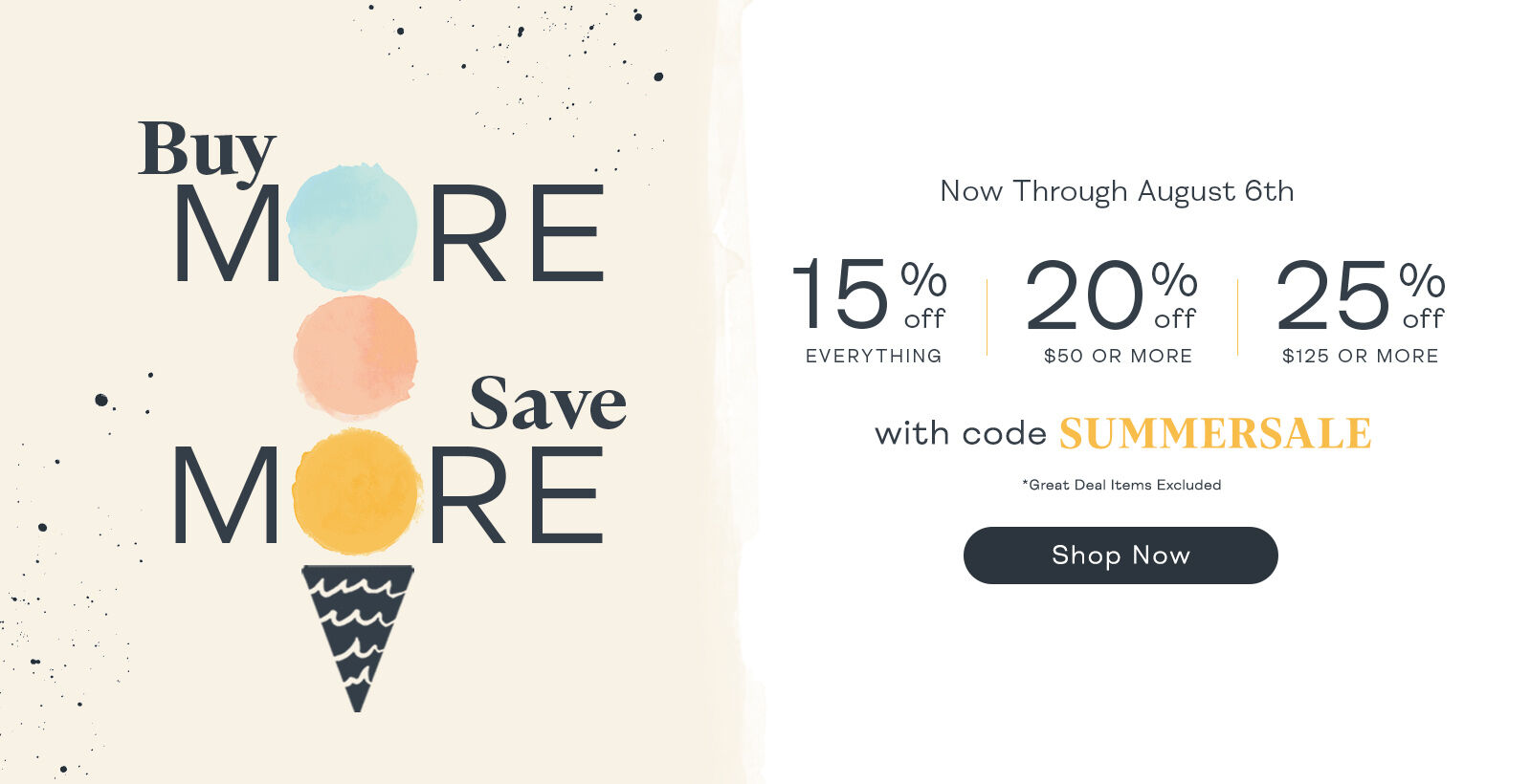 Buy More Save More with SUMMERSALE