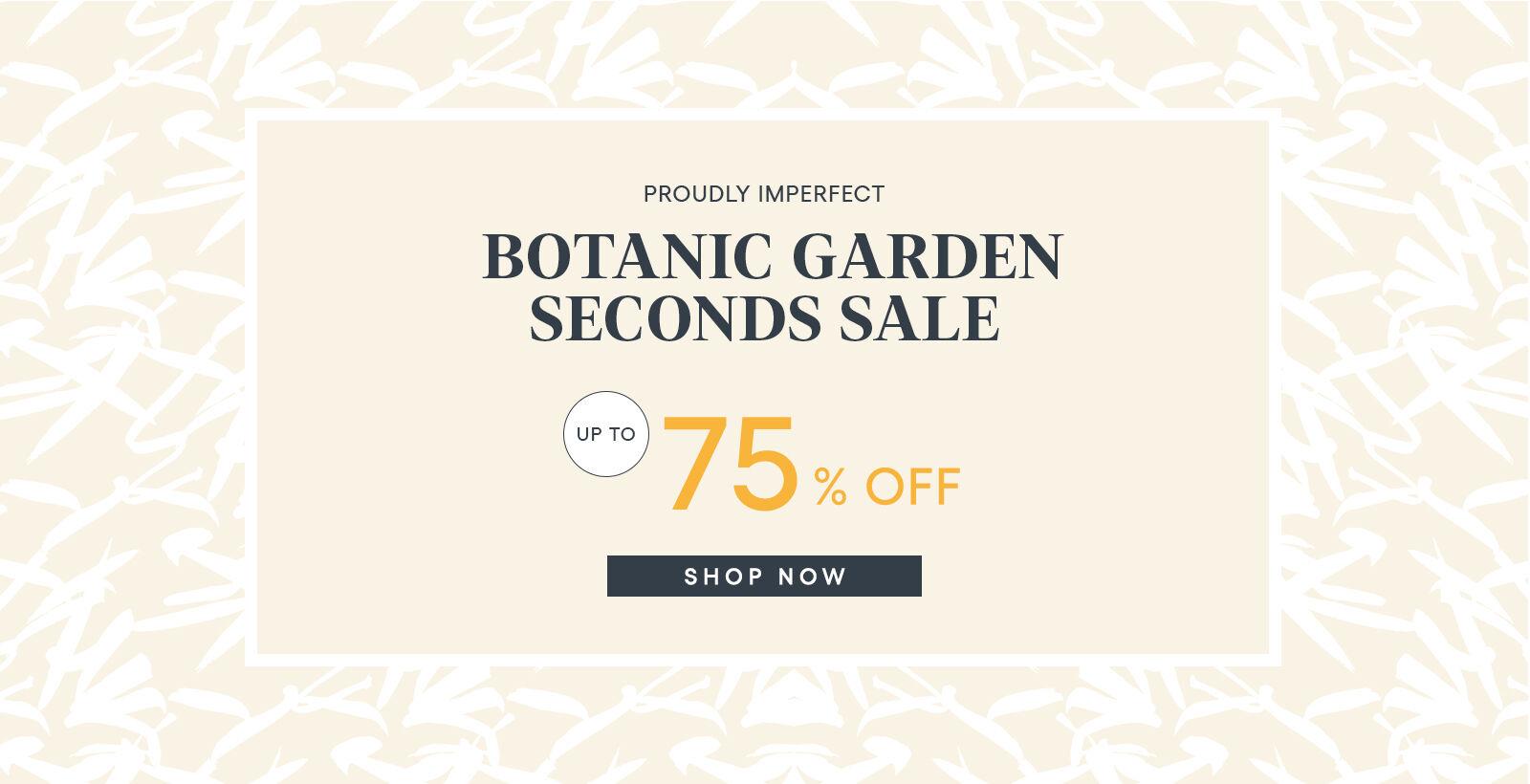 Seconds Sale