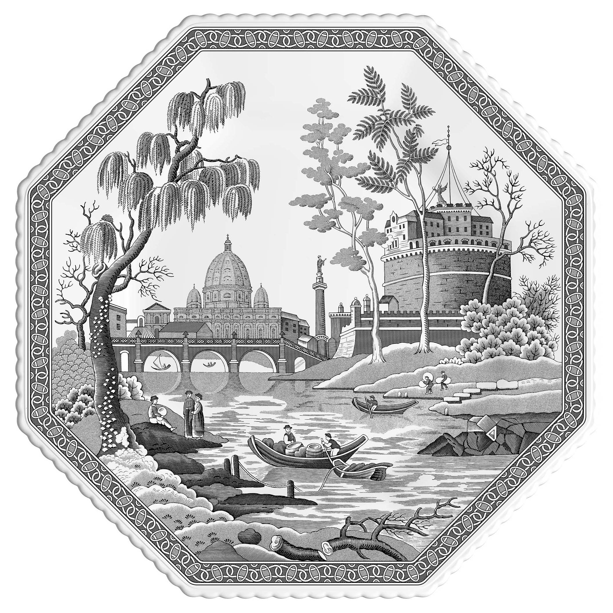 Spode Heritage Octagonal Plate 9.5 Inch (Rome) image number 0