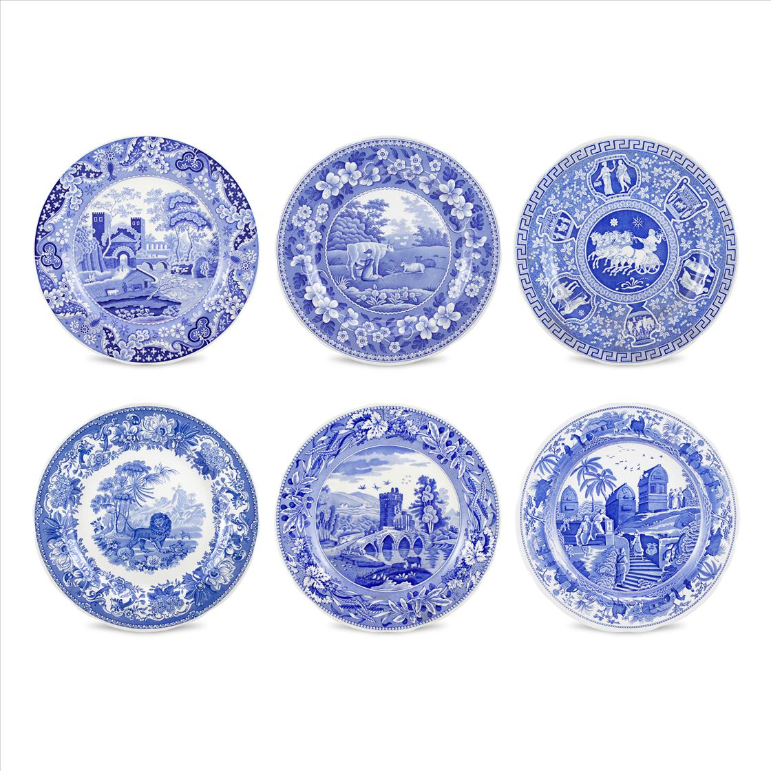Spode Blue Room Set of 6 Traditions Plates image number 0