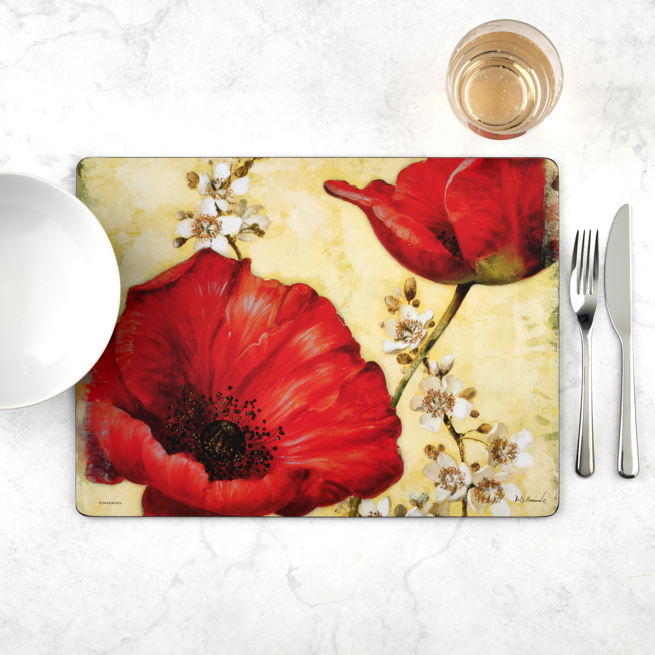 Pimpernel Poppy de Villeneuve Placemats Set of 4 image number 2
