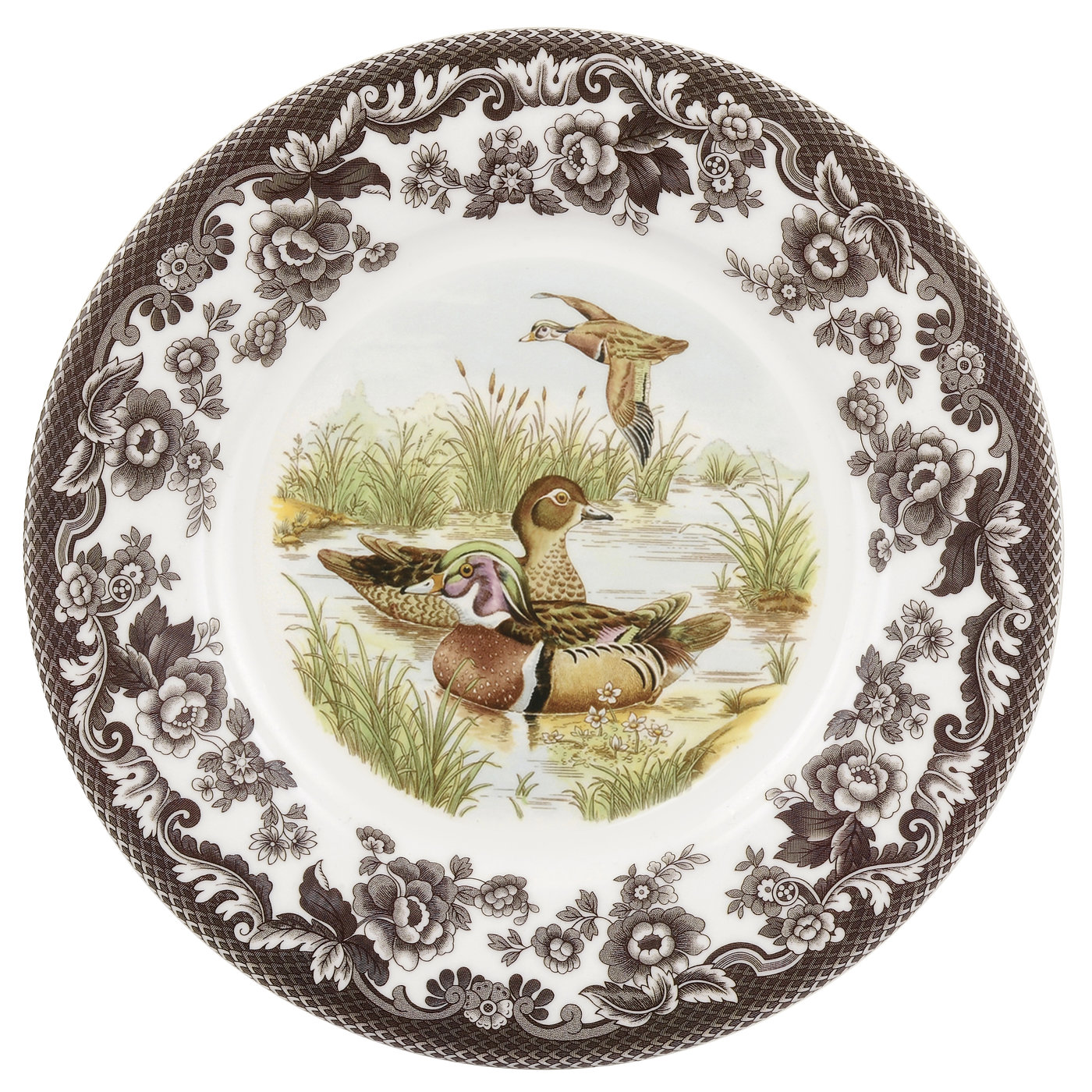 Spode Woodland  Luncheon Plate 9 Inch (Wood Duck) image number 0