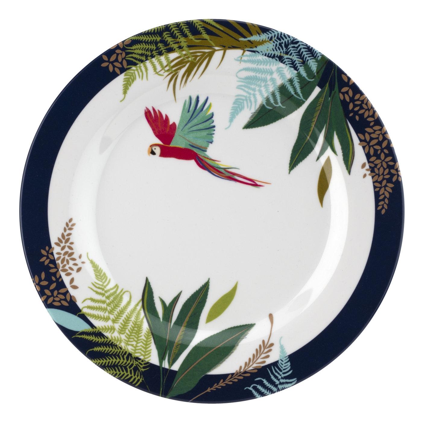 포트메리온 '사라 밀러 런던' 샐러드 접시 4개 세트 Sara Miller London for Portmeirion Parrot Collection 8 Inch Melamine Salad Plates Set of 4