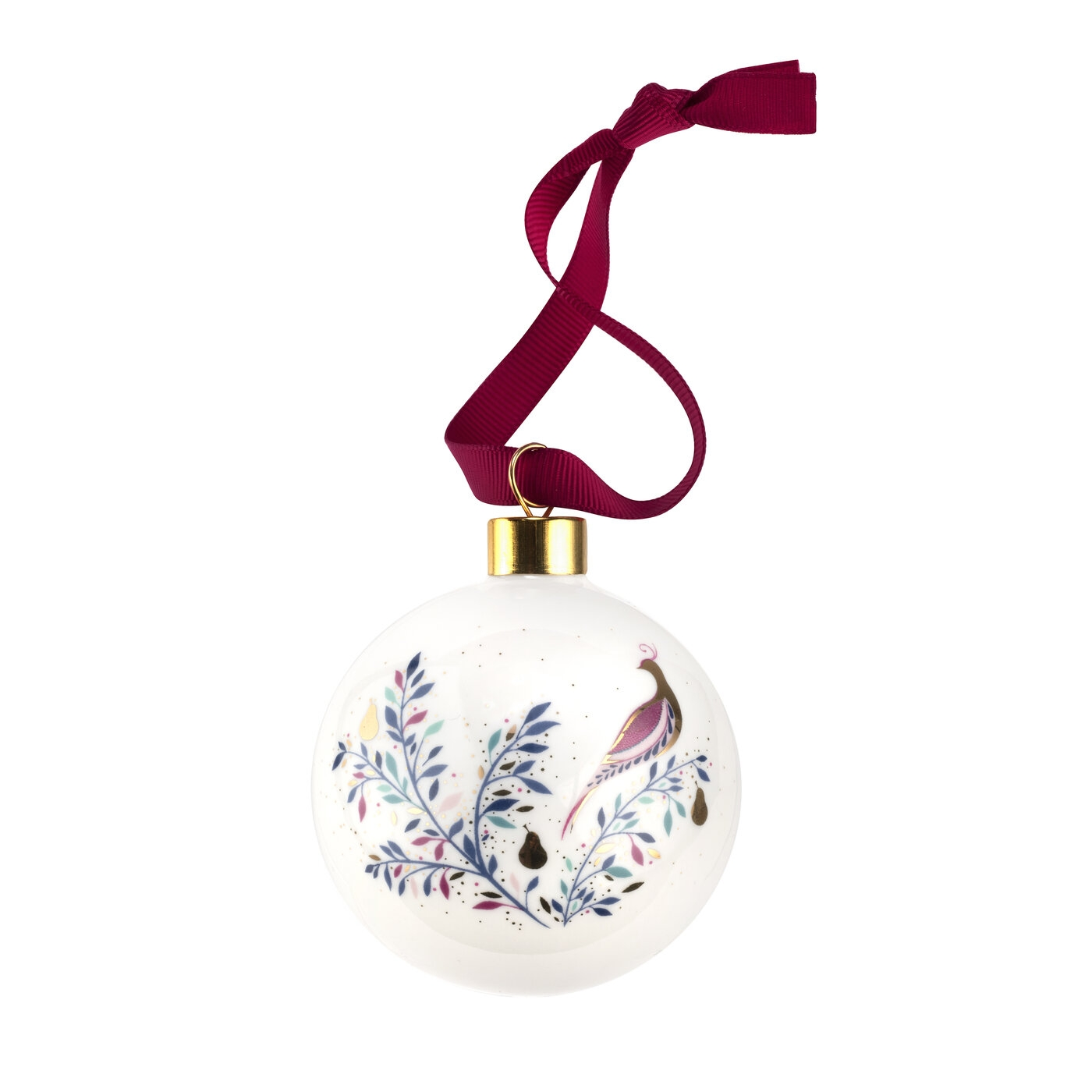 Sara Miller for Portmeirion Partridge In a Pear Tree Bauble image number 0