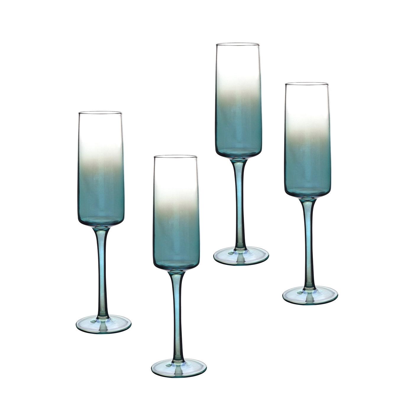 포트메리온 '아트리움' 샴페인잔 4개 세트 Portmeirion Atrium Champagne Flute Set of 4