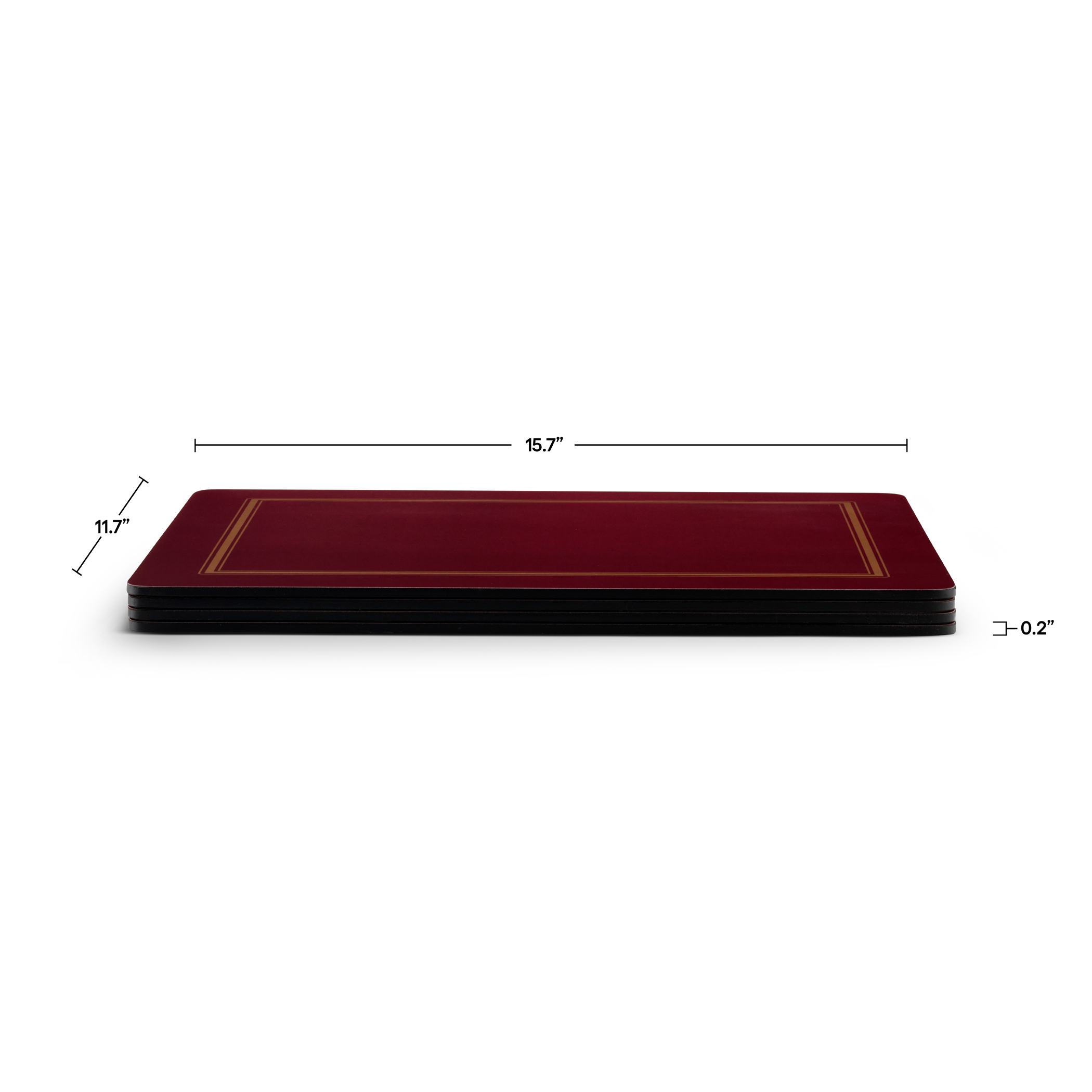 Pimpernel Classic Burgundy Placemats Set of 4 image number 3