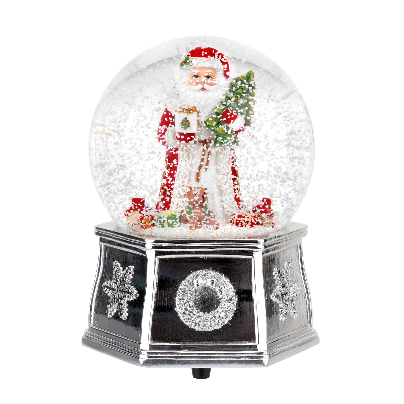 Spode Christmas Tree 5.5 Inch Santa Musical Snow Globe image number 0