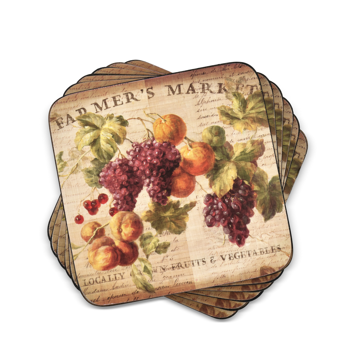 Pimpernel Abundant Fall Set of 6 Coasters image number 0