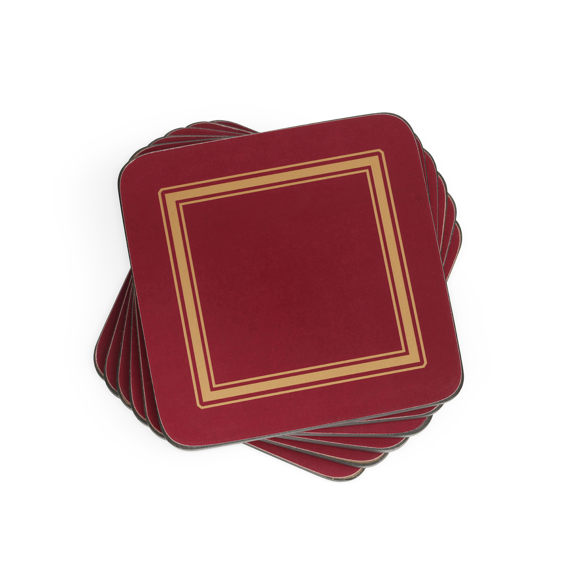 Pimpernel Classic Burgundy Coasters Set of 6 image number 0