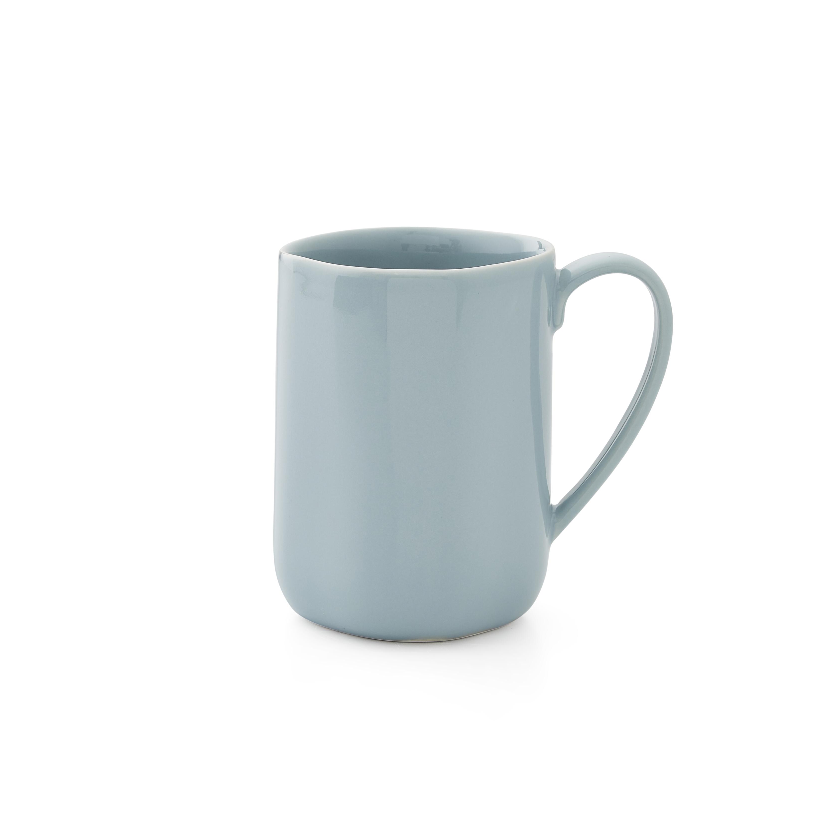 VGC 2x Pair of Portmeirion Sophie Conran Beige Faun Ridged Textured Mug