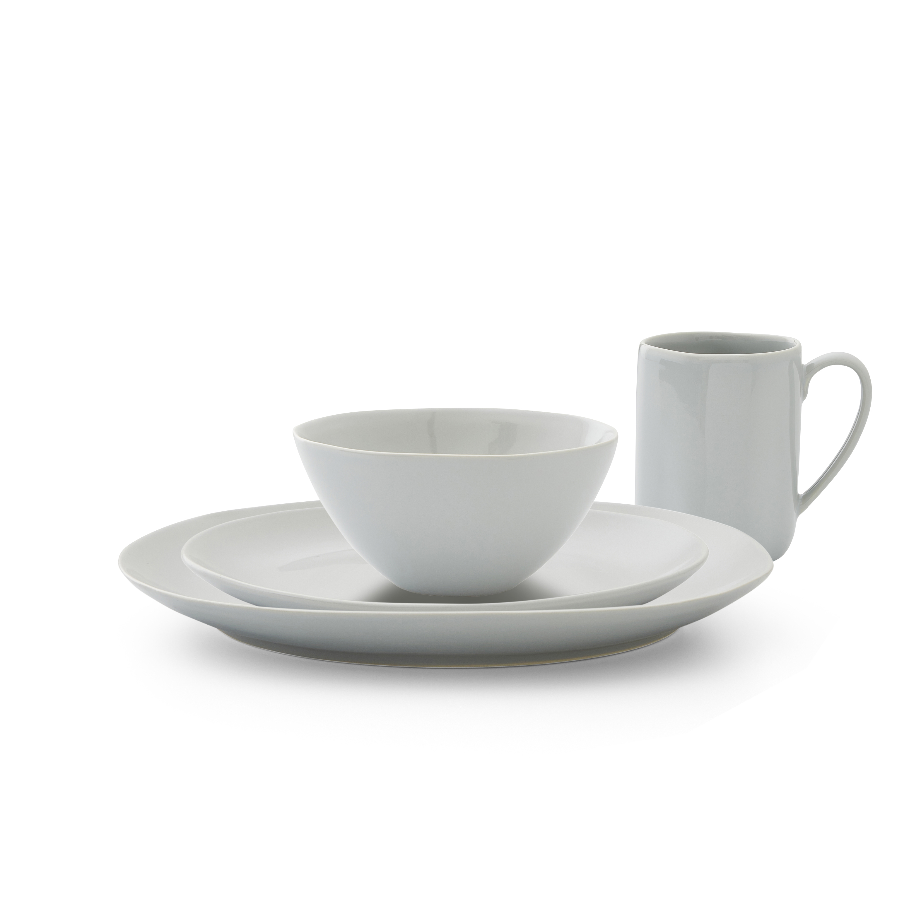 Sophie Conran Arbor 4 Piece Place Setting- Dove Grey image number 0