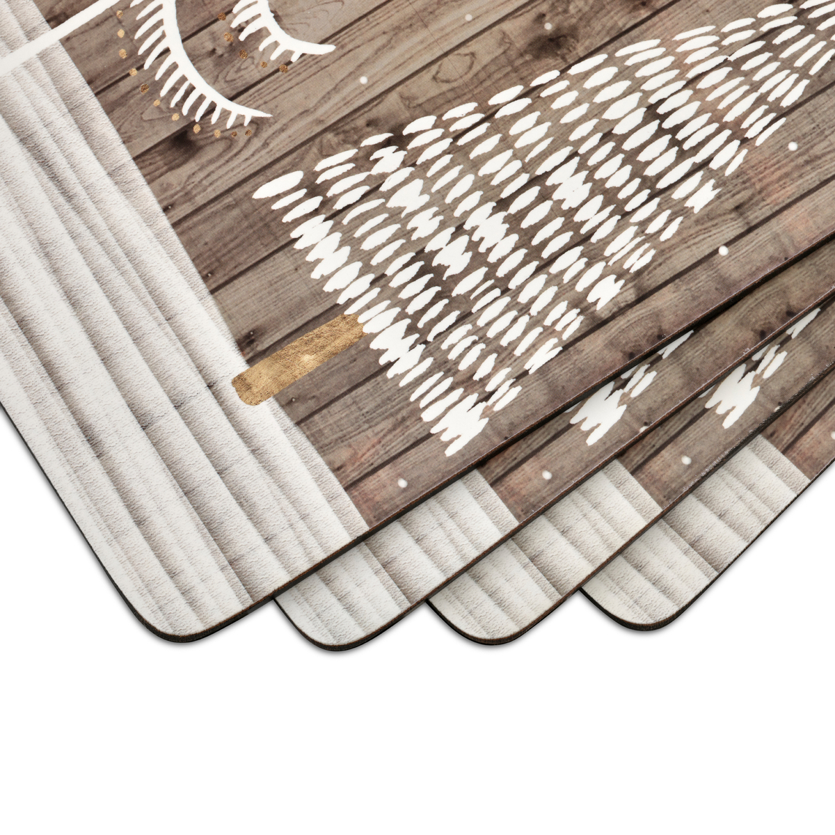 Pimpernel Wooden White Christmas Placemats Set of 4 image number 2