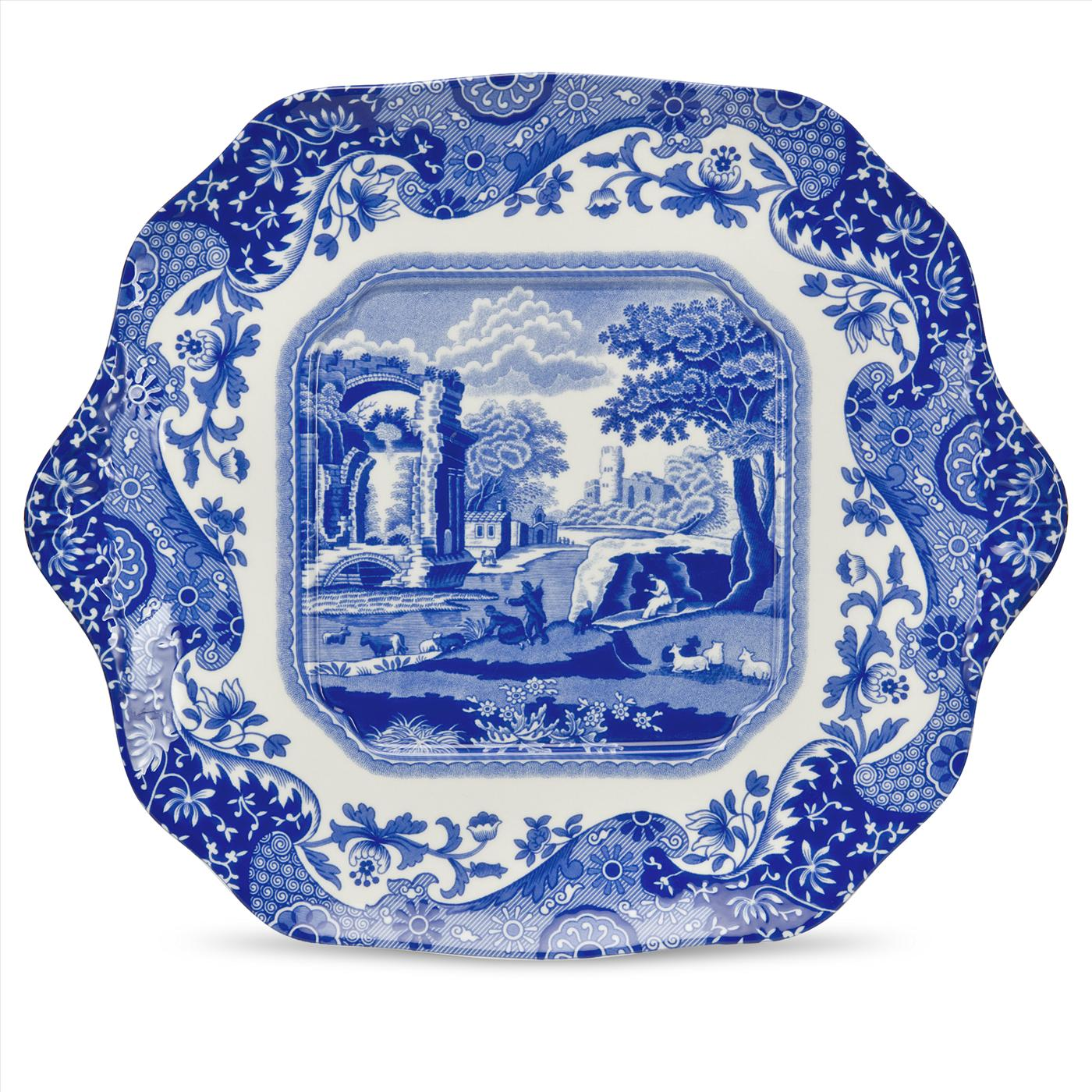 Spode Blue Italian English Bread and Butter Plates image number 0