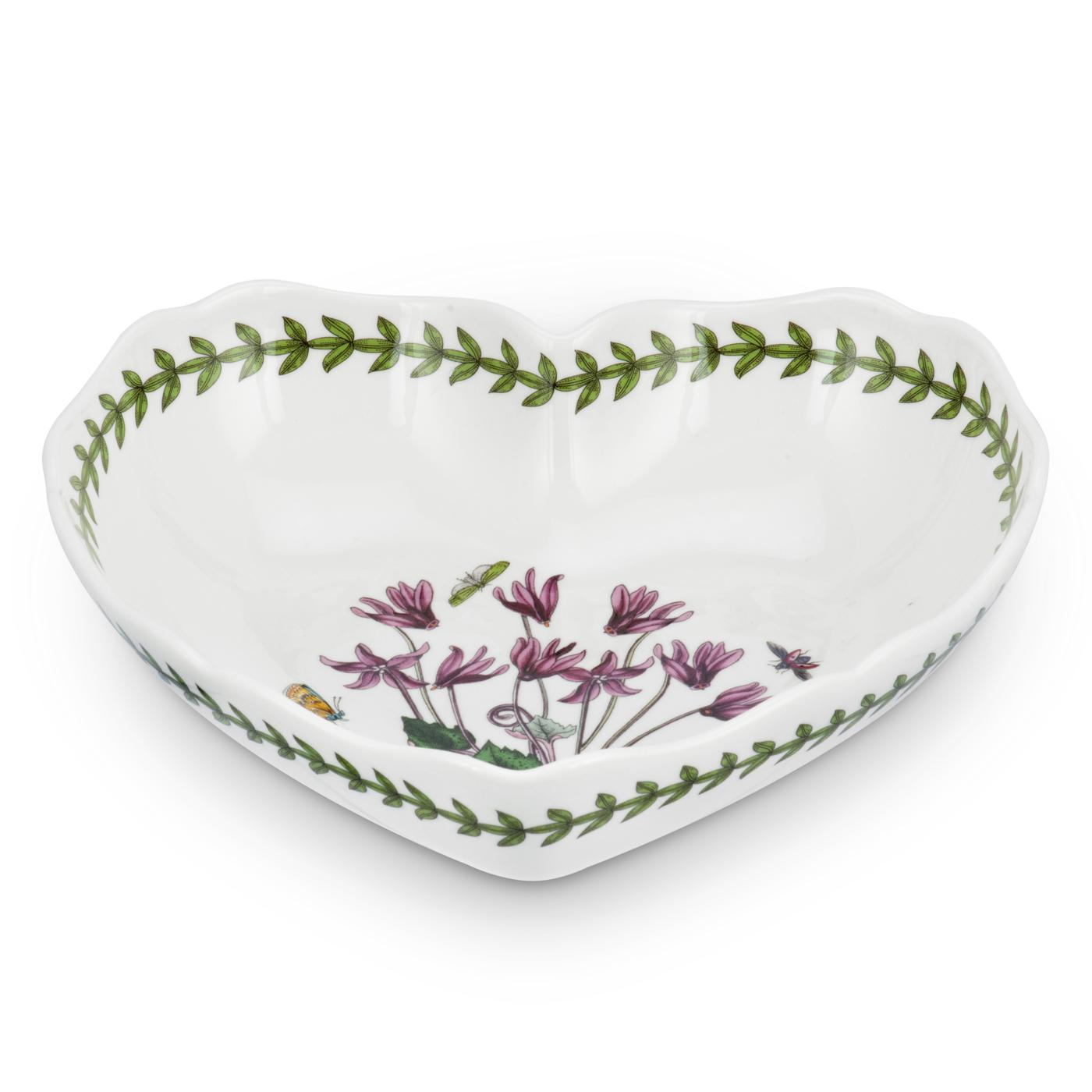 Portmeirion Botanic Garden Scalloped Edge Heart Shaped Dish image number 0