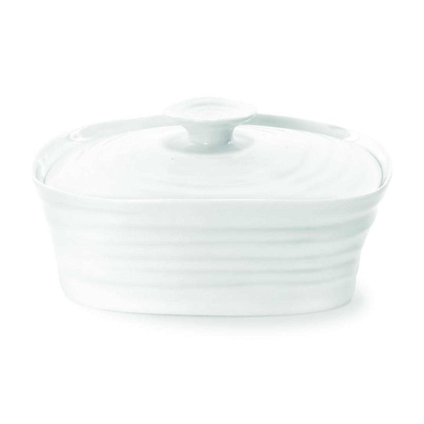 Portmeirion Sophie Conran White Covered Butter image number 0