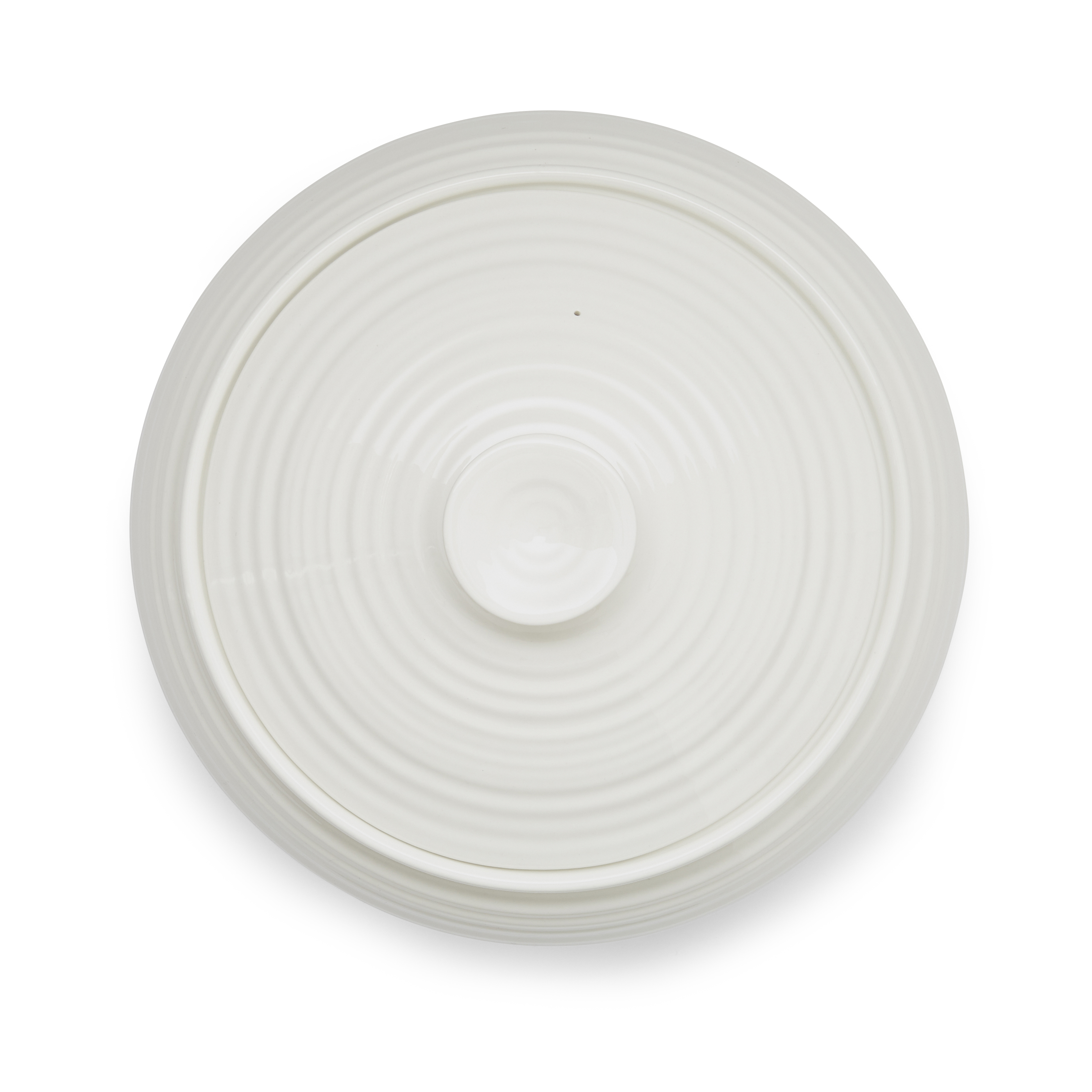 Portmeirion Sophie Conran White Low Covered Casserole image number 1