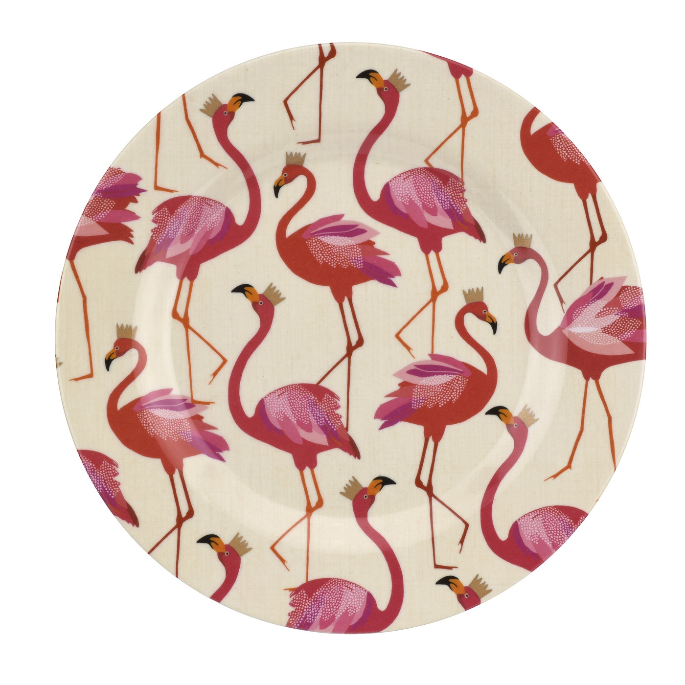Sara Miller London for Portmeirion Flamingo 8 Inch Melamine Salad Plates Set of 4 image number 0