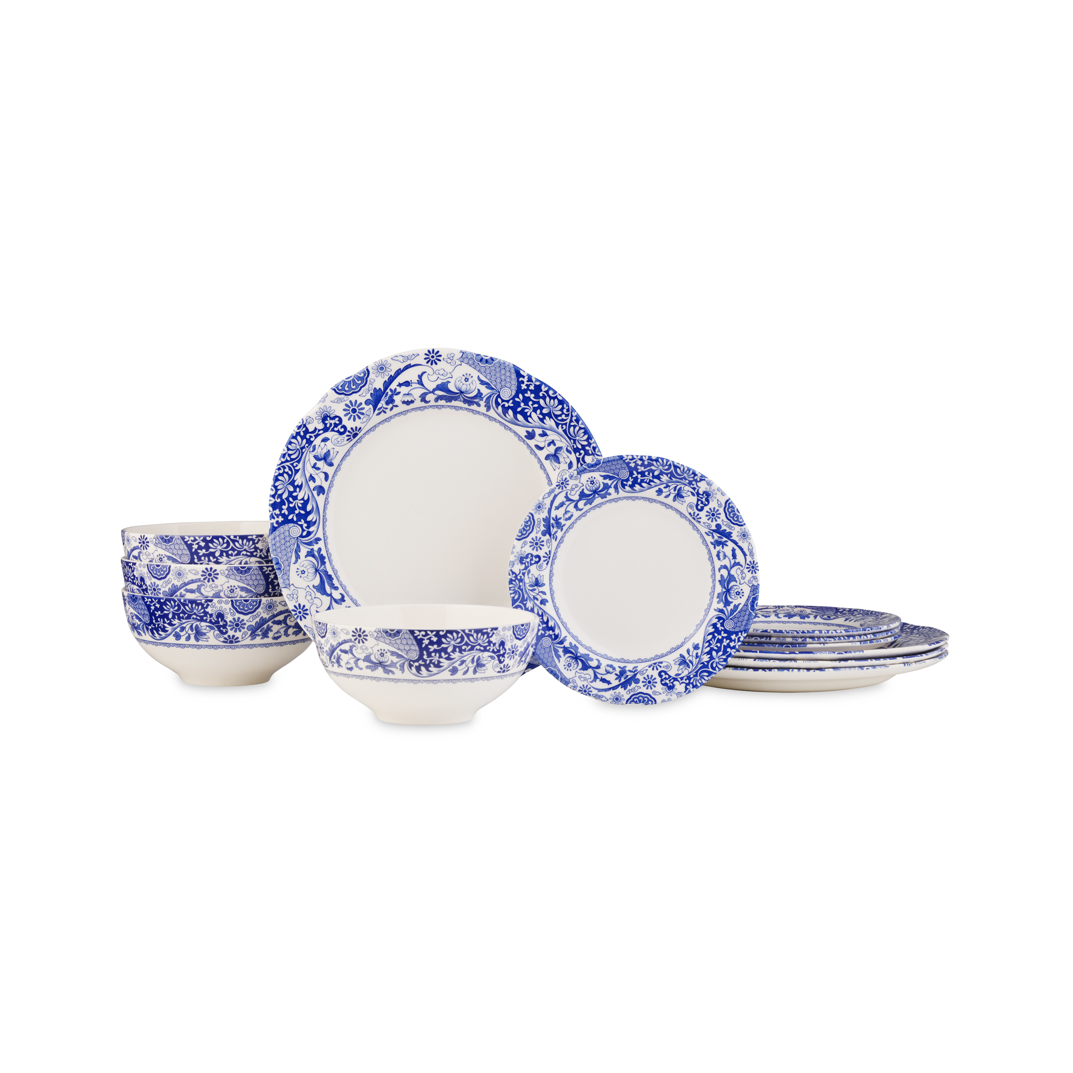 Spode Blue Italian Brocato 12 Piece Set image number 0