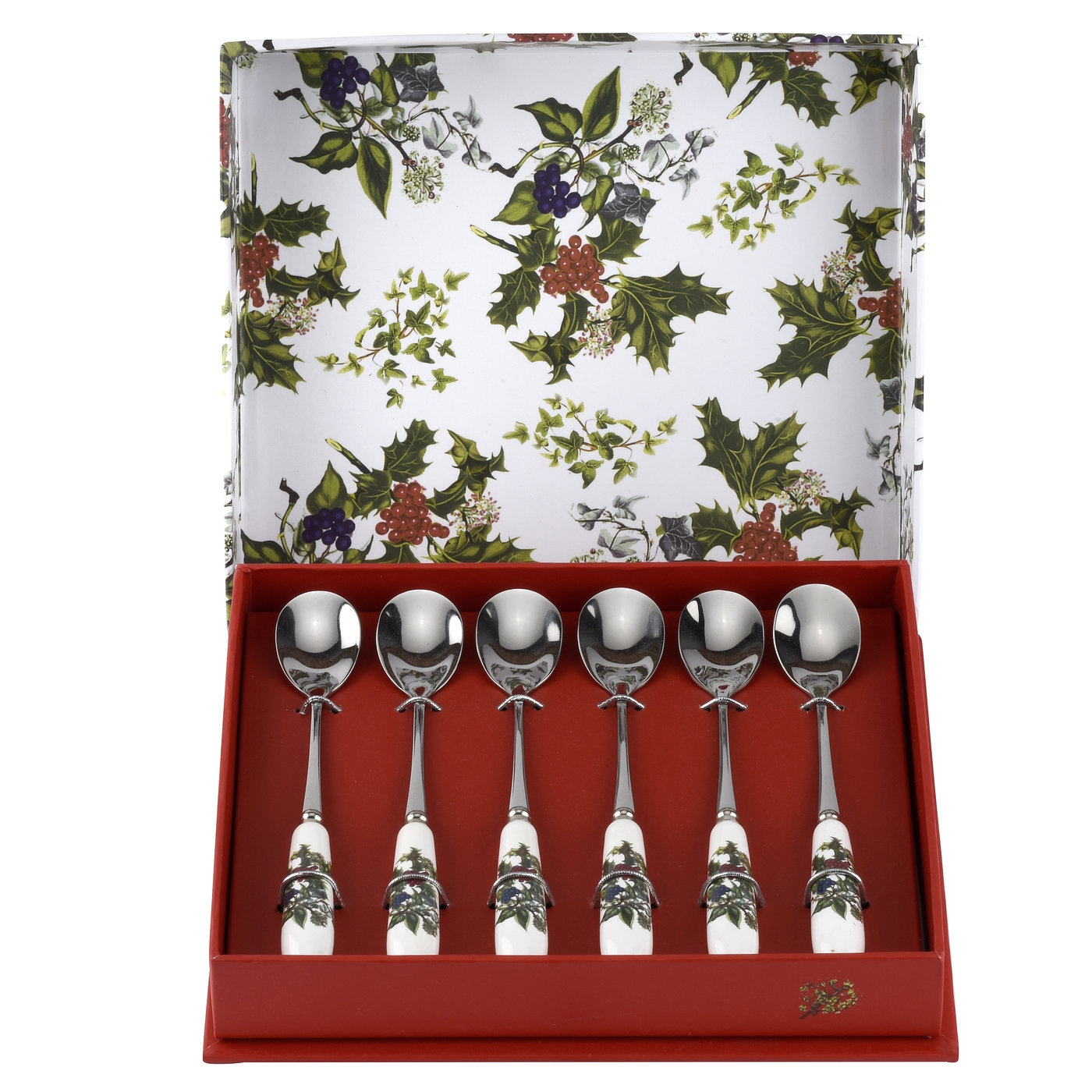 Portmeirion The Holly and The Ivy Set of 6 Teaspoons image number 0