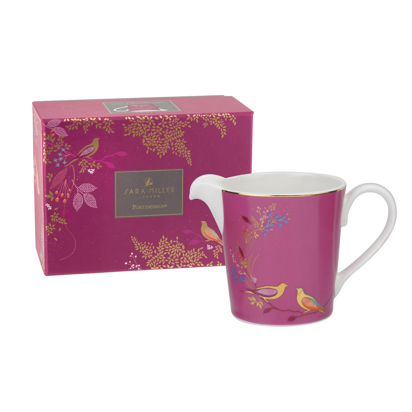 Sara Miller London for Portmeirion Chelsea Collection Cream Jug Pink image number 0