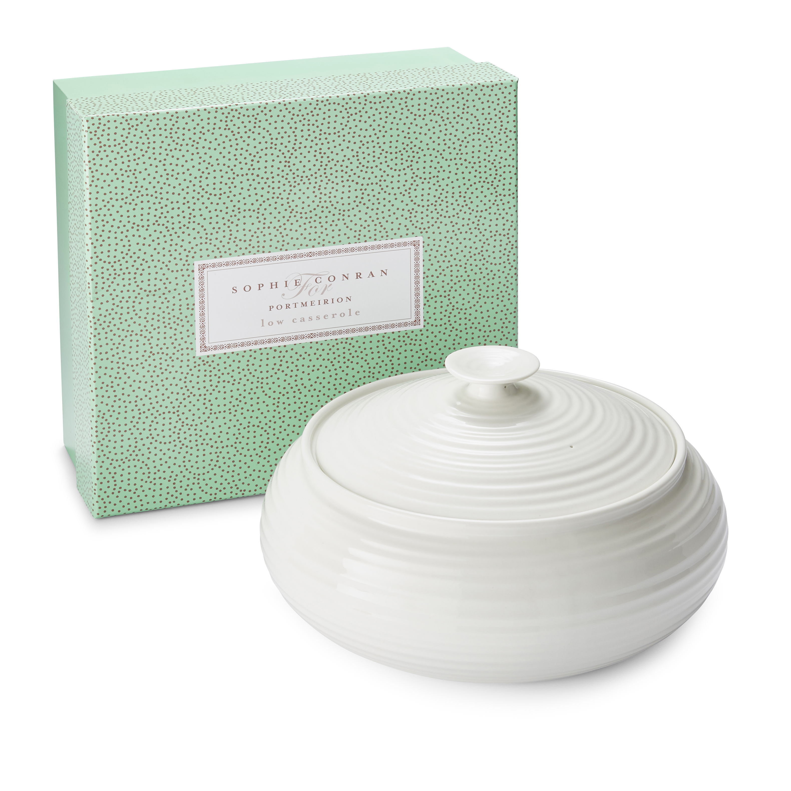 Portmeirion Sophie Conran White Low Covered Casserole image number 2