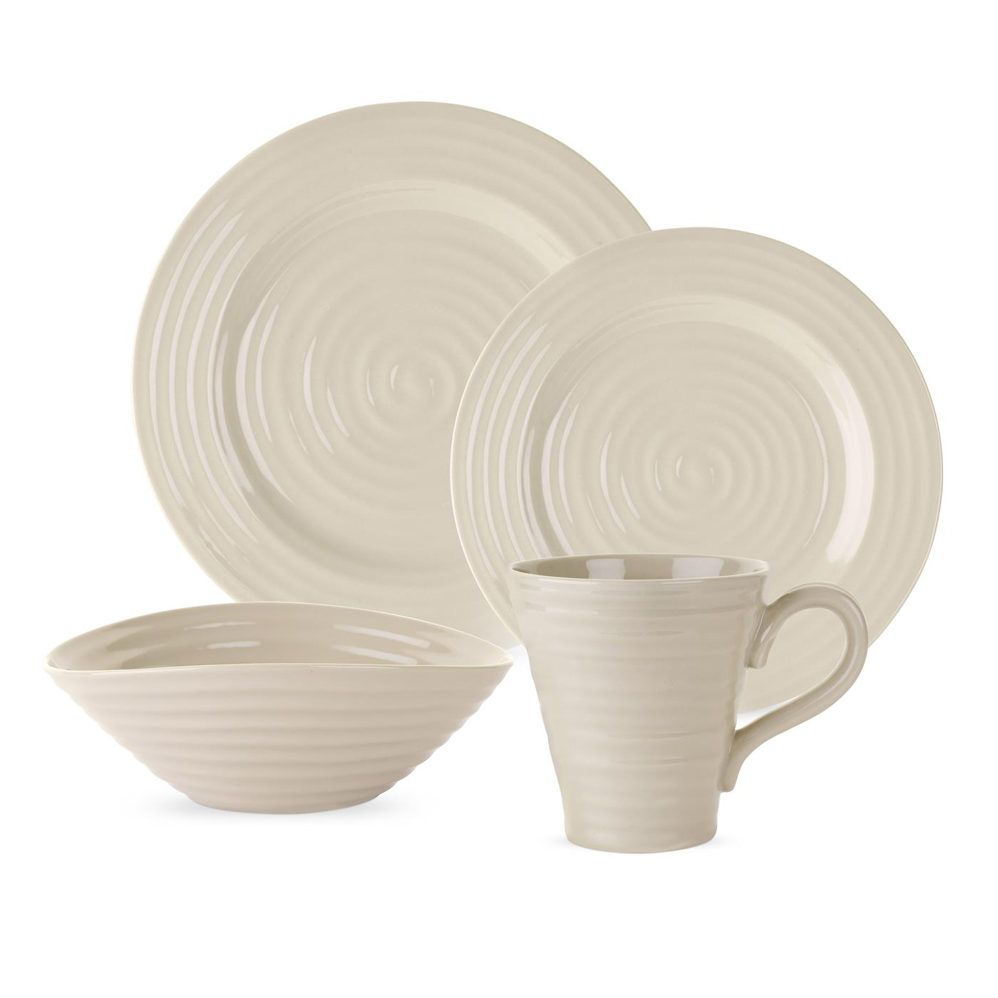 Portmeirion Sophie Conran Pebble 4 piece Place Setting image number 0