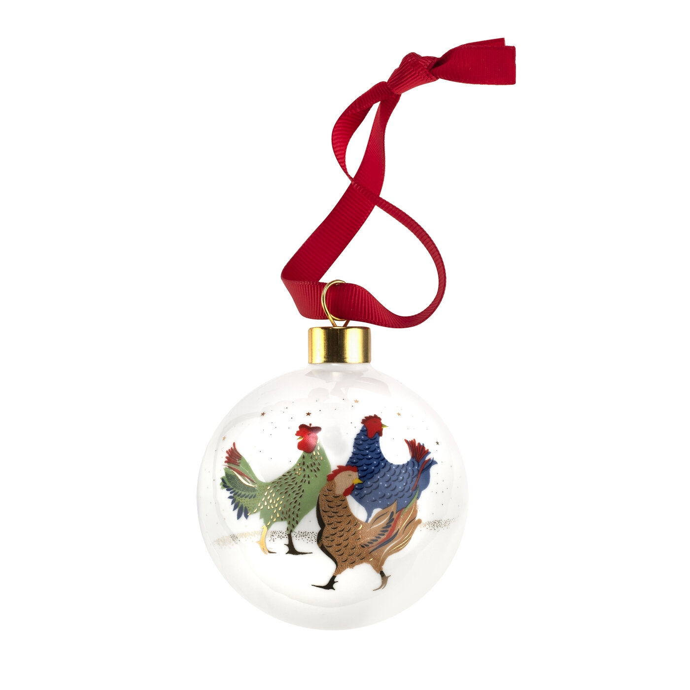 Sara Miller London for Portmeirion Three French Hens Bauble image number 0