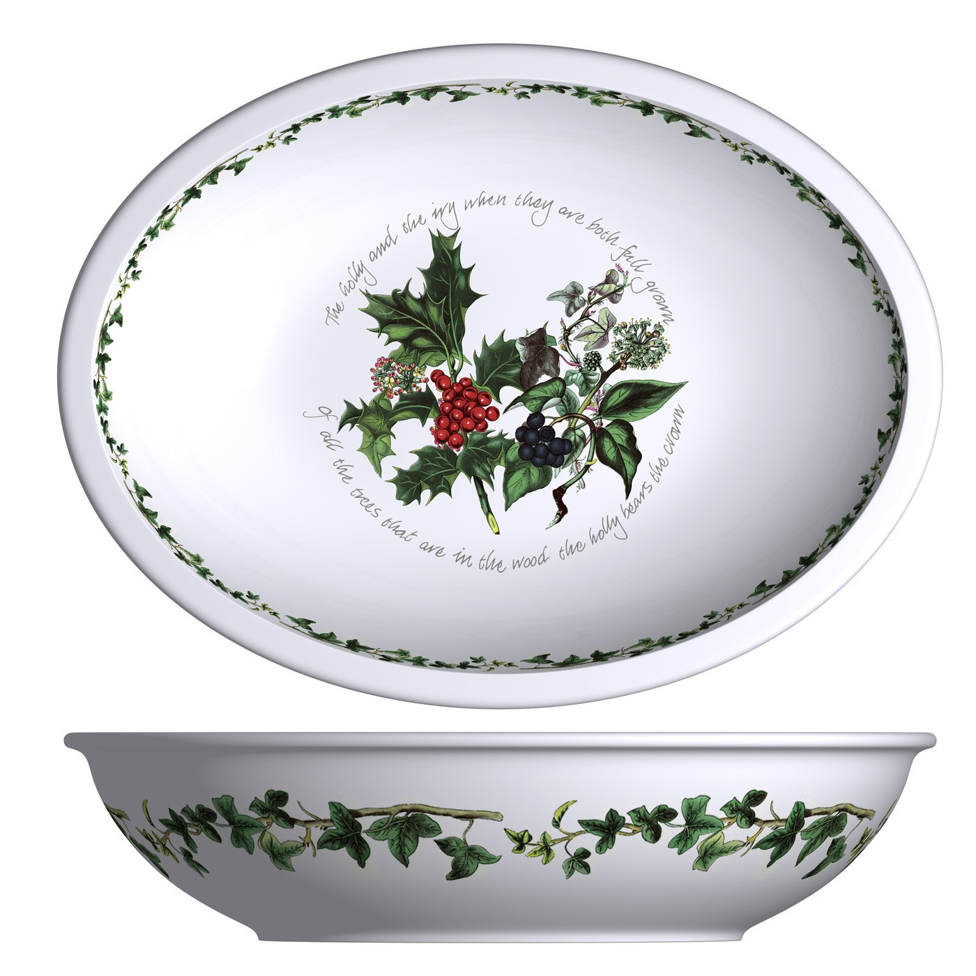 Portmeirion The Holly and The Ivy Large Deep Oval Dish image number 0