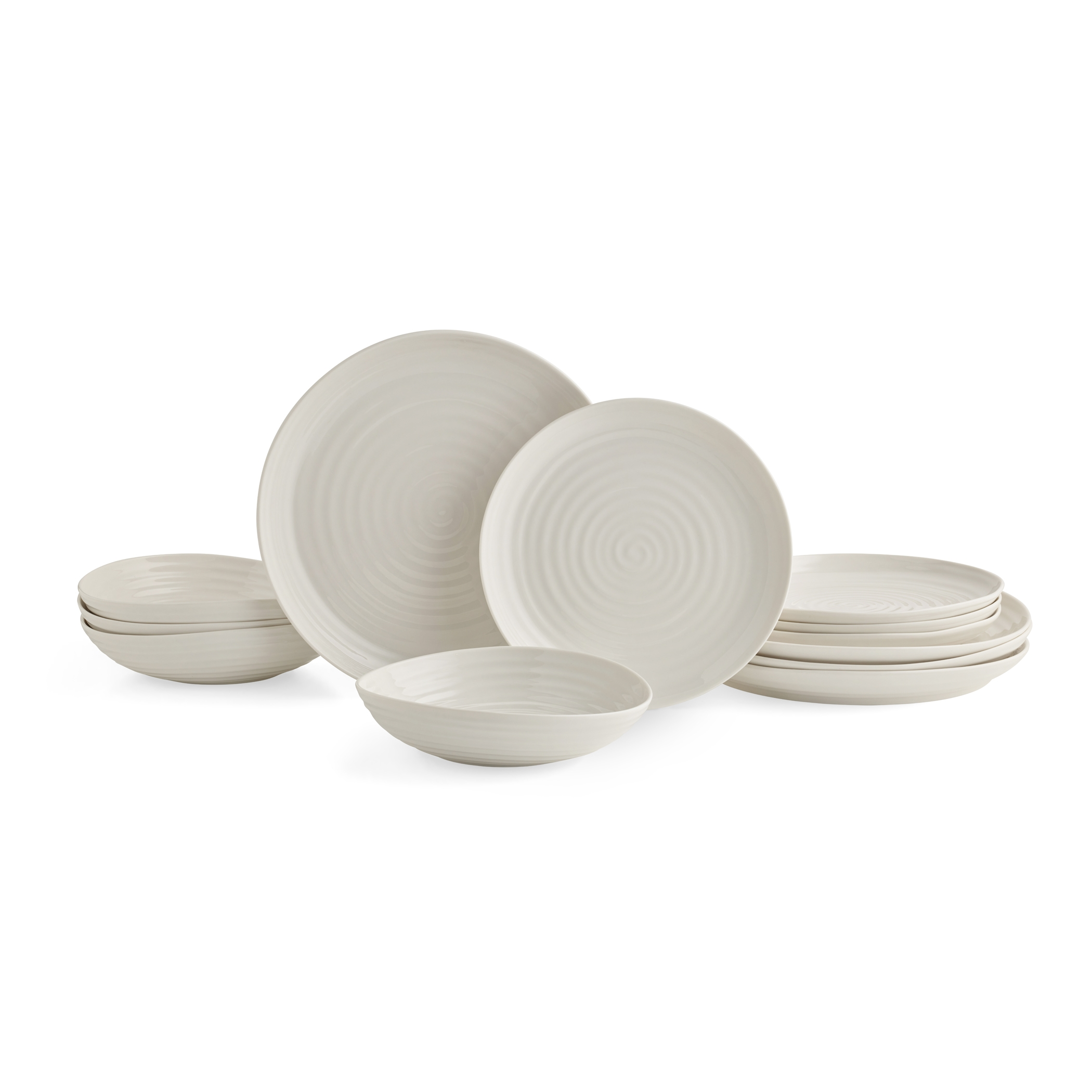 포트메리온 '소피 콘란' 12피스 세트 Portmeirion Sophie Conran White 12 Piece Set Coupe Shape