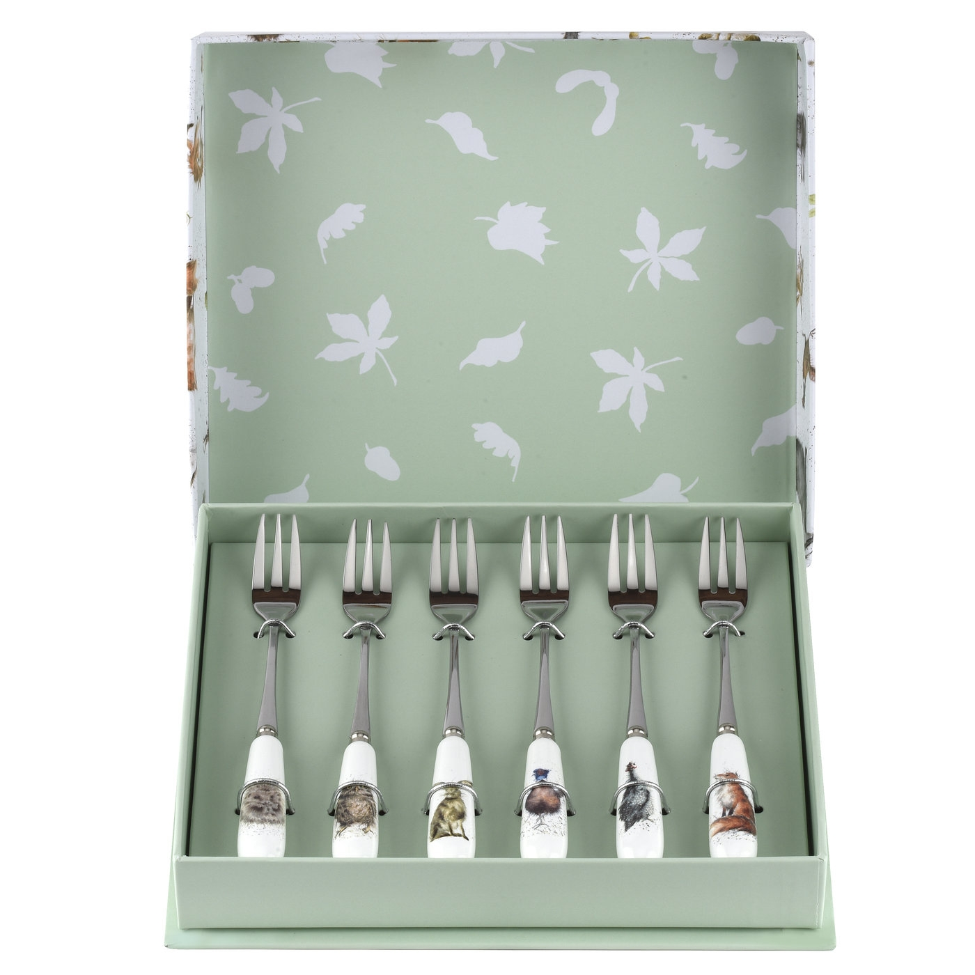Wrendale Designs Set of 6 Pastry Forks (Assorted) image number 0