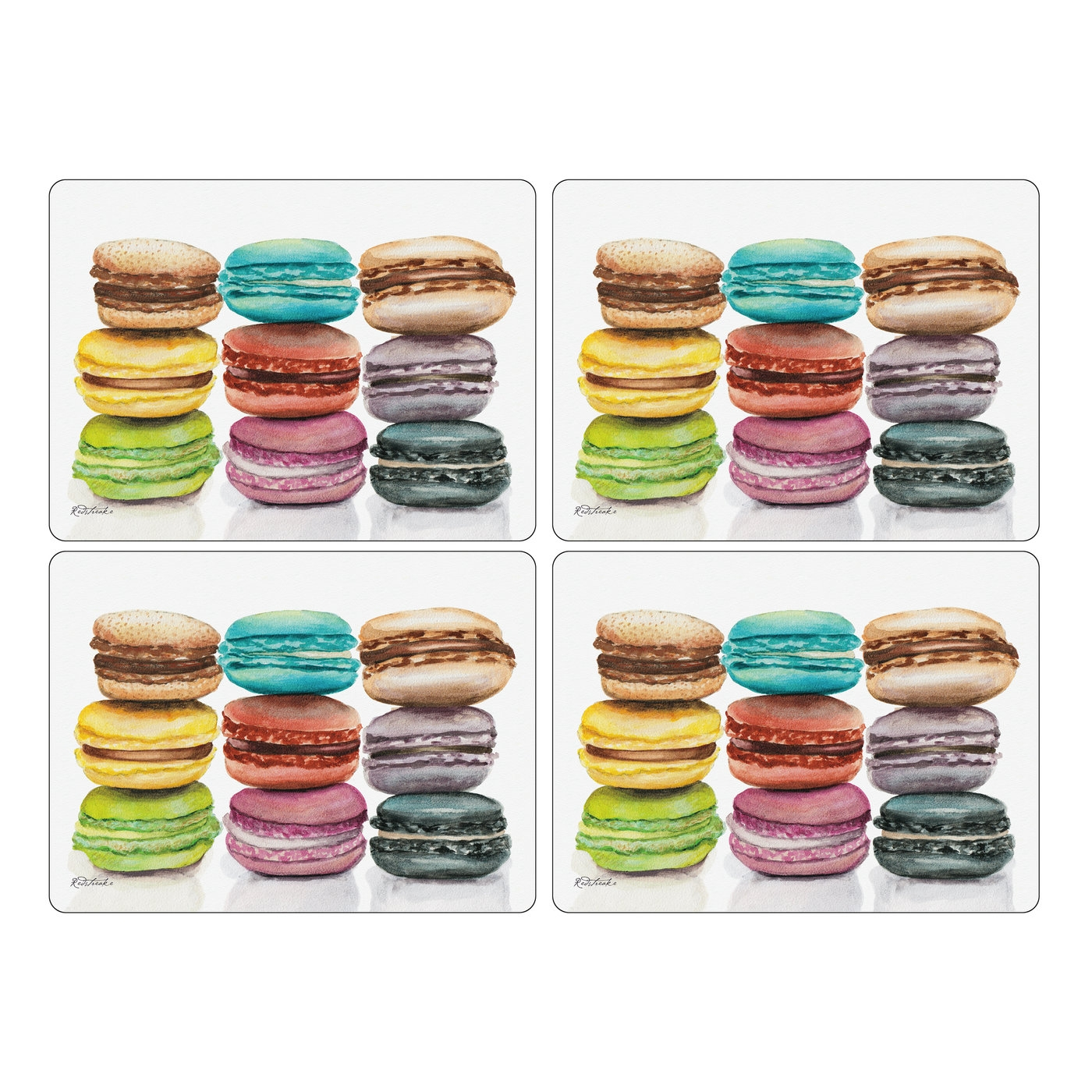 Set of 4 2010648936 Pimpernel Placemats Macarons