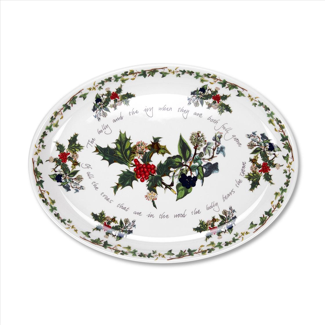 Portmeirion The Holly and The Ivy Turkey Platter image number 0