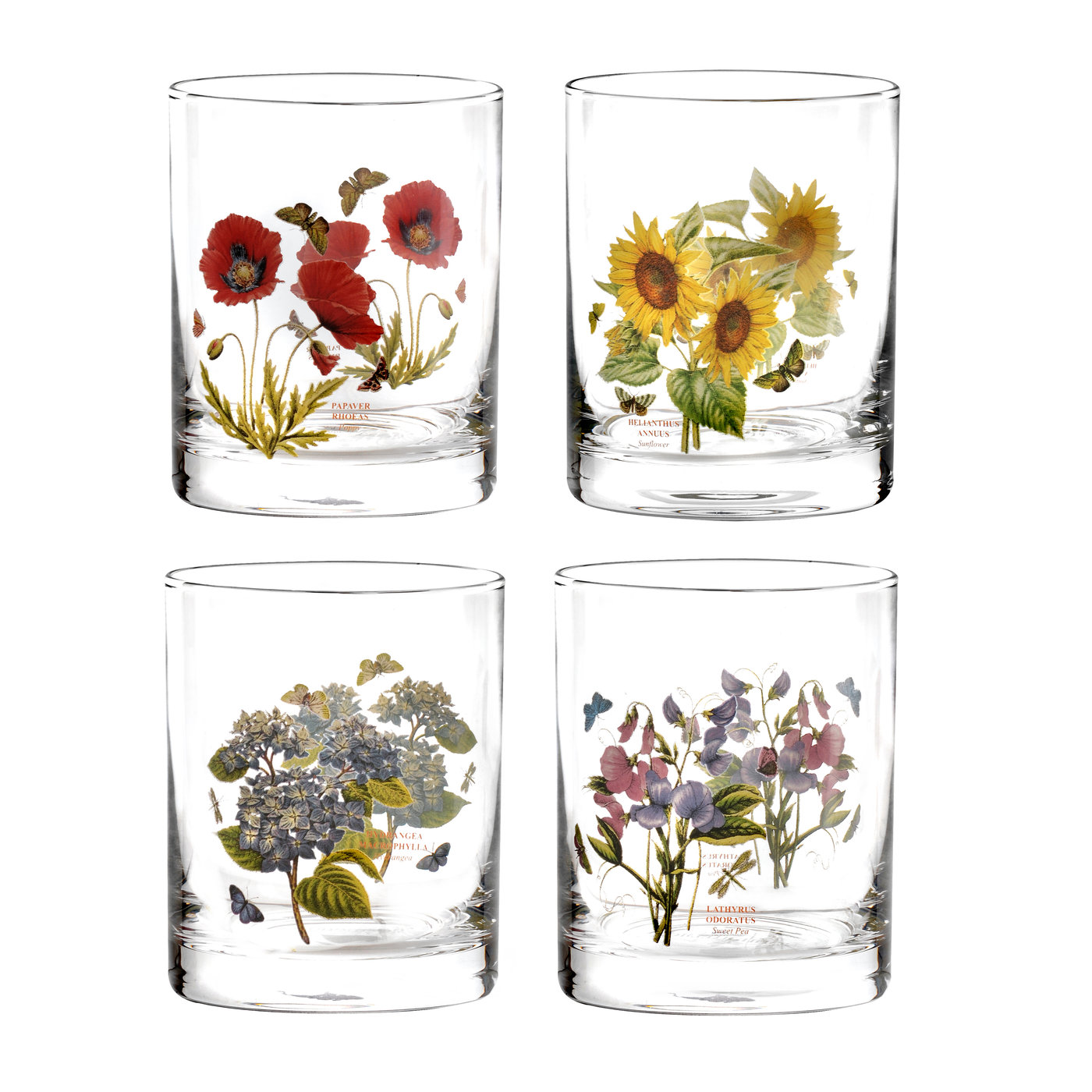Portmeirion Botanic Garden Set of 4 Double Old Fashioned Glasses image number 0