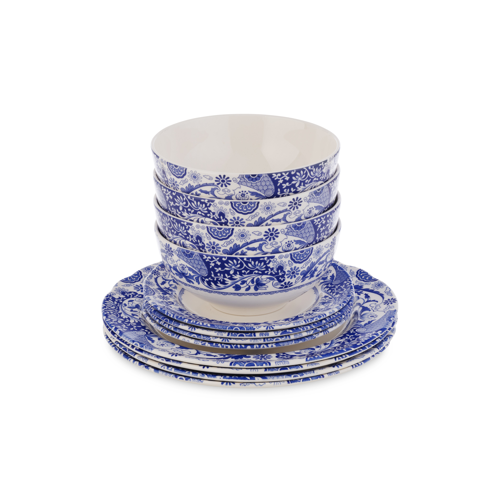 Spode Blue Italian Brocato 12 Piece Set image number 2