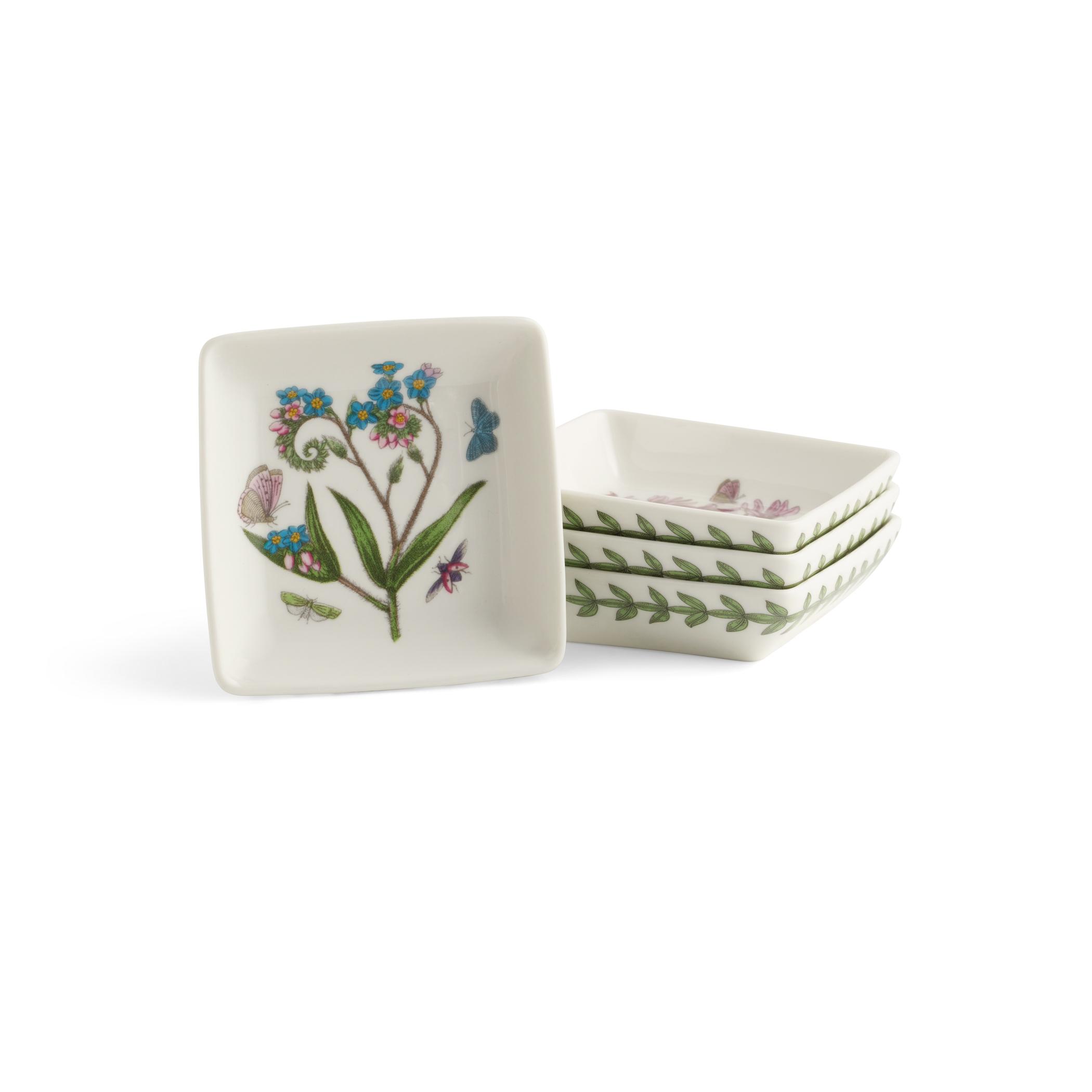 Portmeirion Botanic Garden Set of 9 Square Mini Dishes