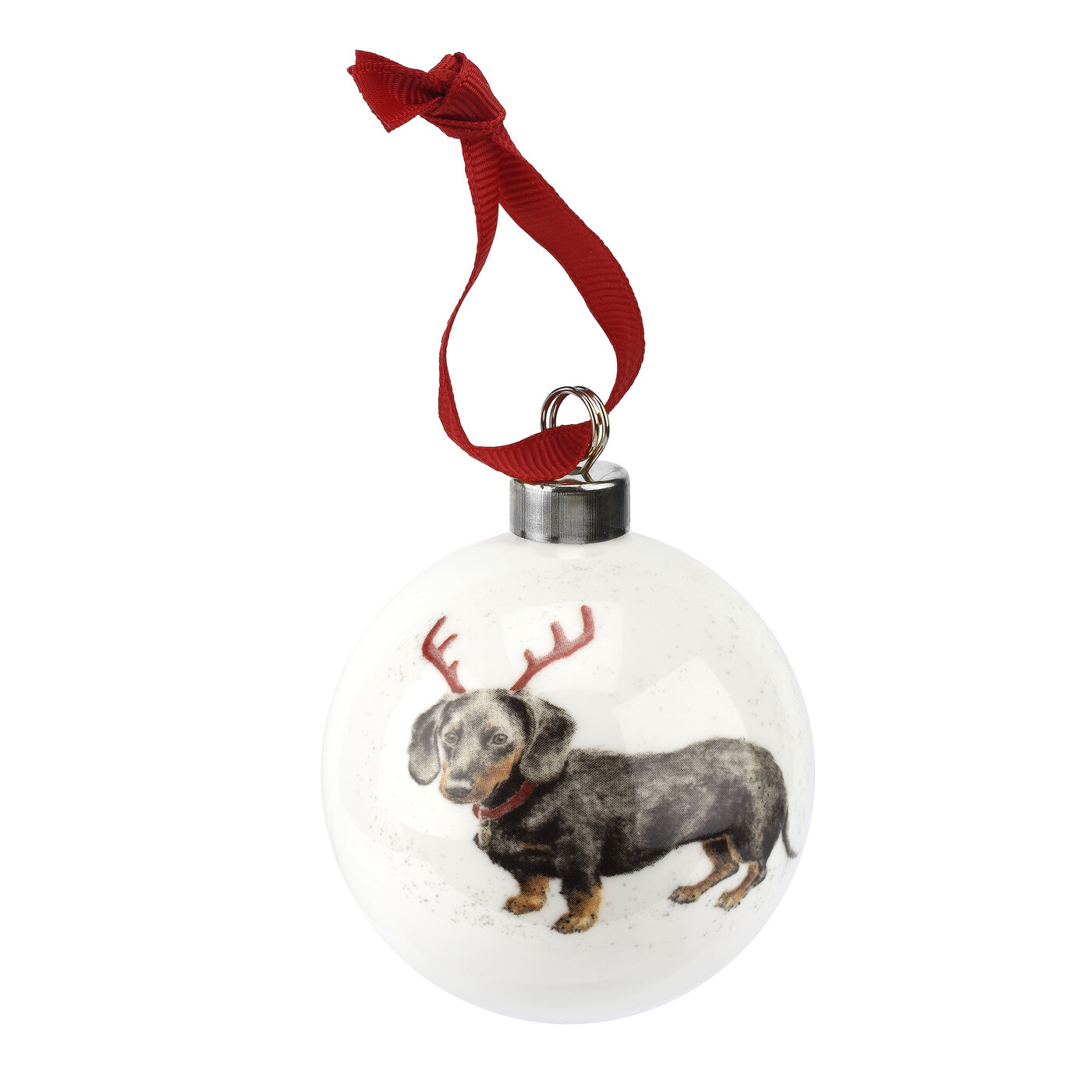 Wrendale Designs Bauble Dachshund Through The Snow (Dog) image number 0
