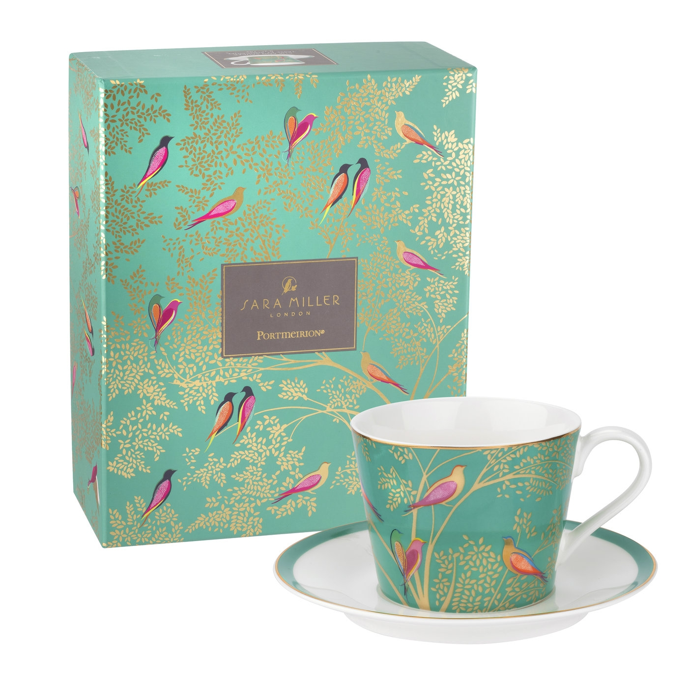 Sara Miller London for Portmeirion Chelsea Collection Tea Cup and Saucer image number 0