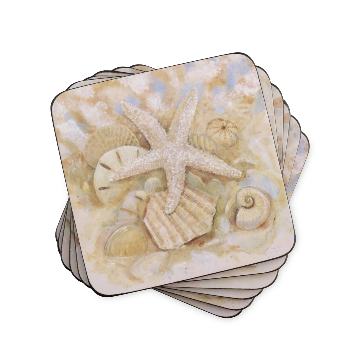 Pimpernel Beach Prize Coasters Set of 6 image number 0