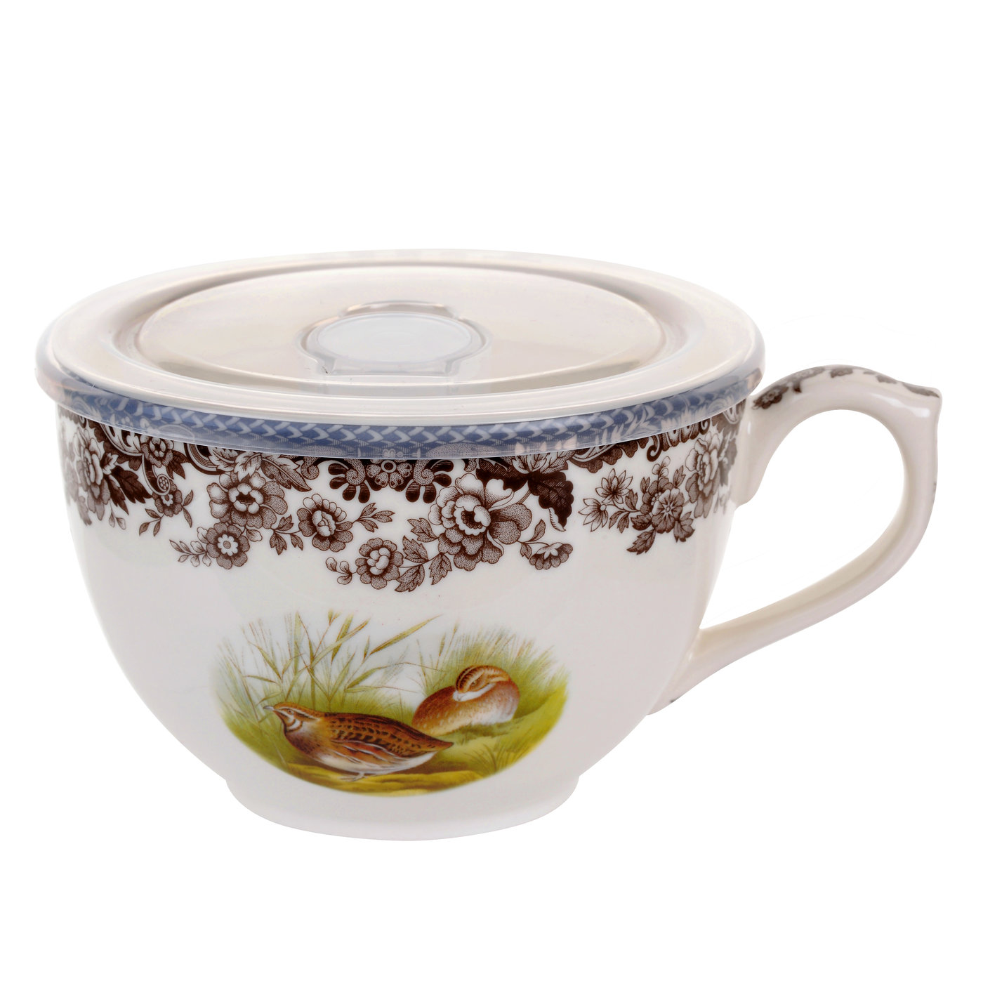 Spode Woodland Jumbo Cup with Lid (Quail) image number 0