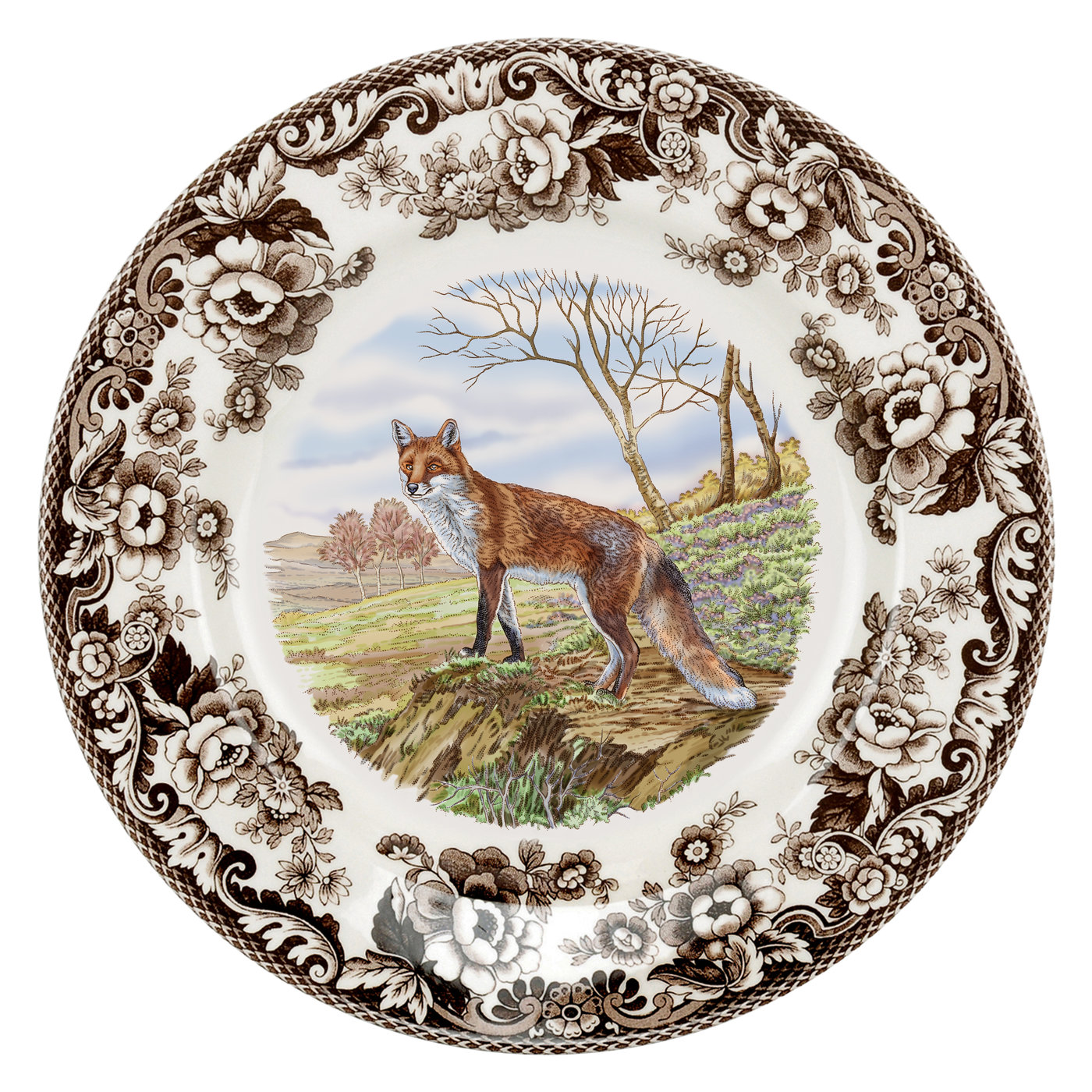 Spode Woodland Dinner Plate 10.5 Inch (Red Fox) image number 0