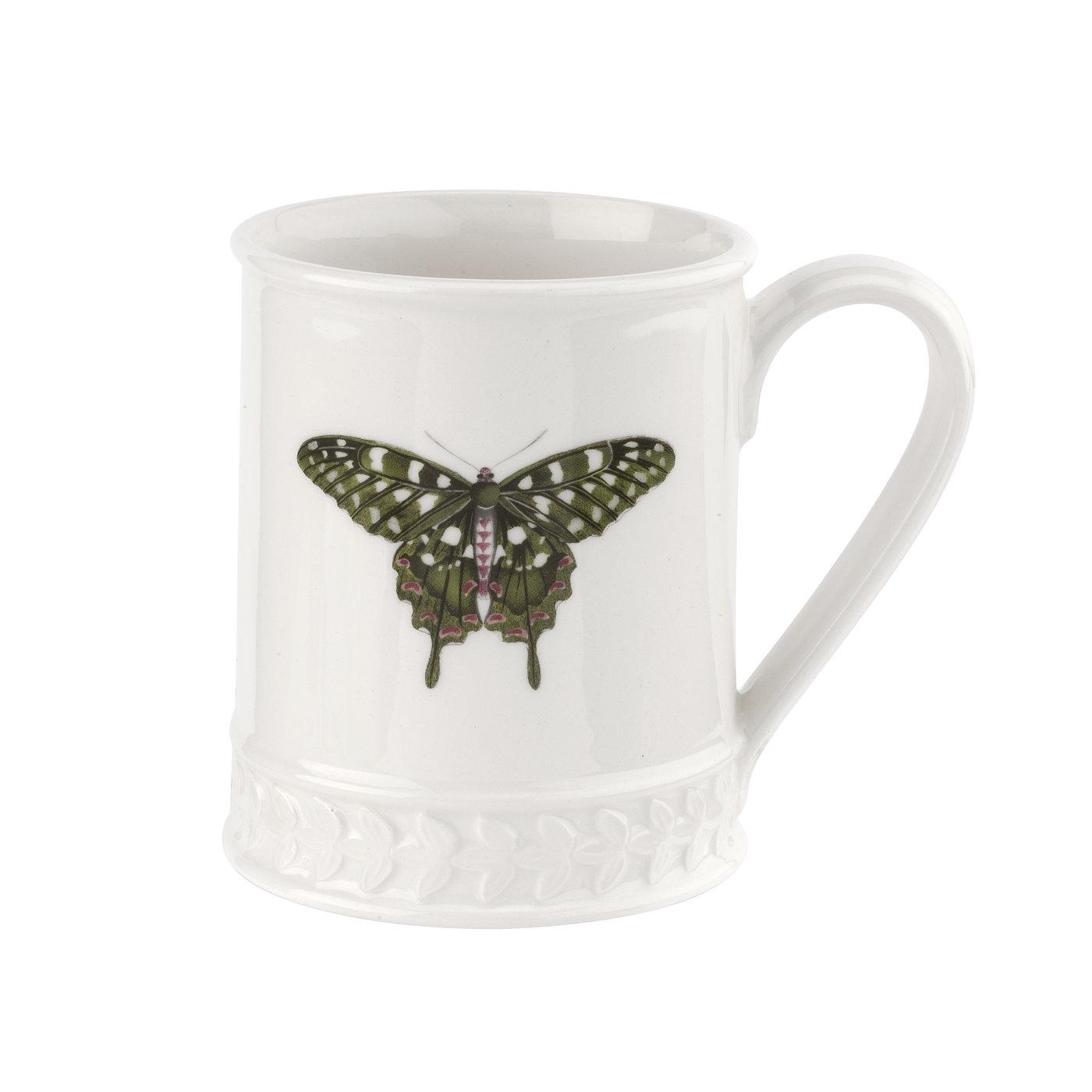 포트메리온 '보타닉 가든 하모니' 나비 머그 Portmeirion Botanic Garden Harmony Embossed 16 oz Tankard-Forest Green Butterfly