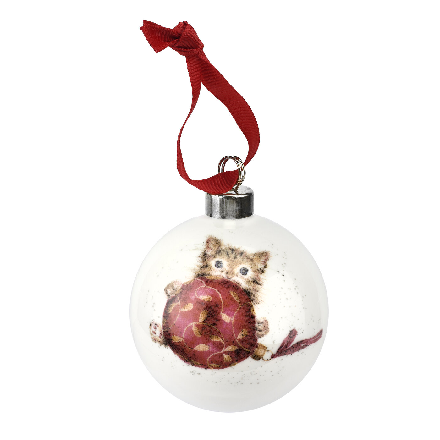 Royal Worcester Wrendale Designs Bauble (Purrfect Christmas) image number 0
