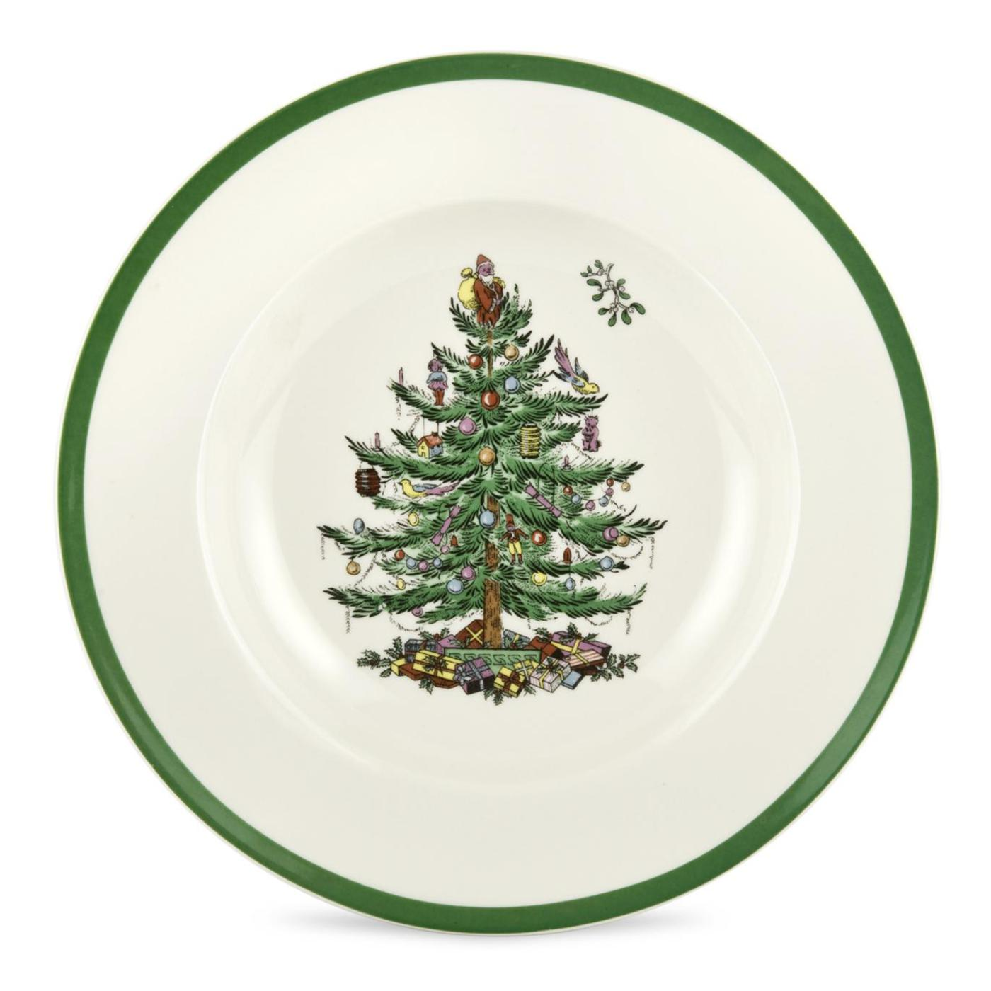 Spode Christmas Tree Set of 4 Soup Plates image number 0