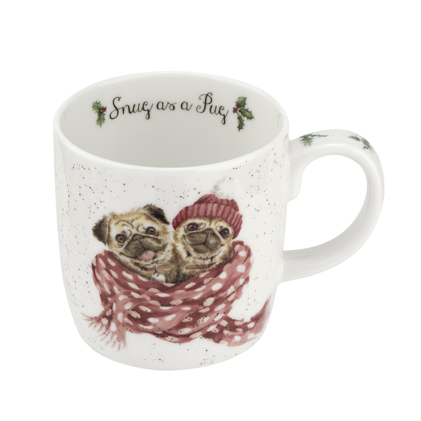 Royal Worcester Wrendale Designs 14oz Snug As a Pug (Dog) image number 0