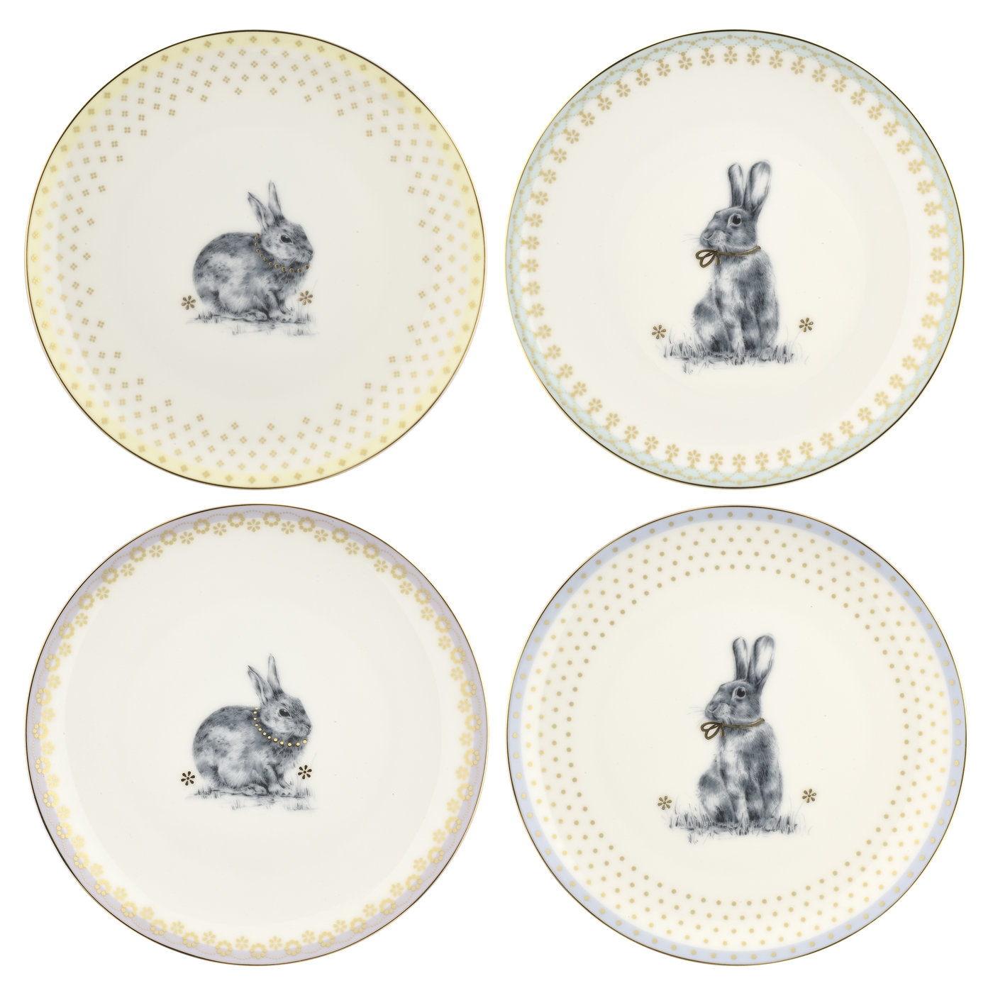 Spode Meadow Lane 8.2 Inch Salad Plate Set of 4 image number 0