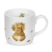 Royal Worcester Wrendale Designs MUG 14 OZ TREETOP REDHEAD (SQUIRREL) image number 0