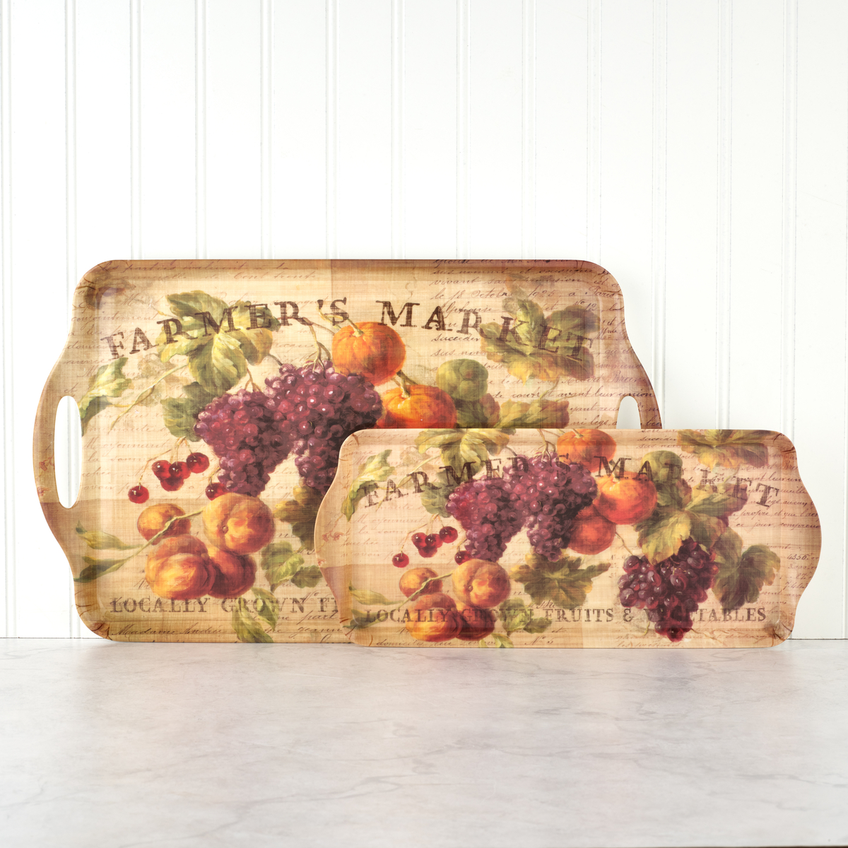 Pimpernel Abundant Fall Large Melamine Handled Tray image number 0