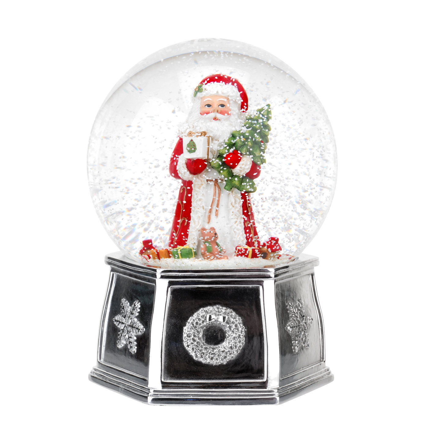 Spode Christmas Tree 6.5 Inch Santa Musical Snow Globe image number 0