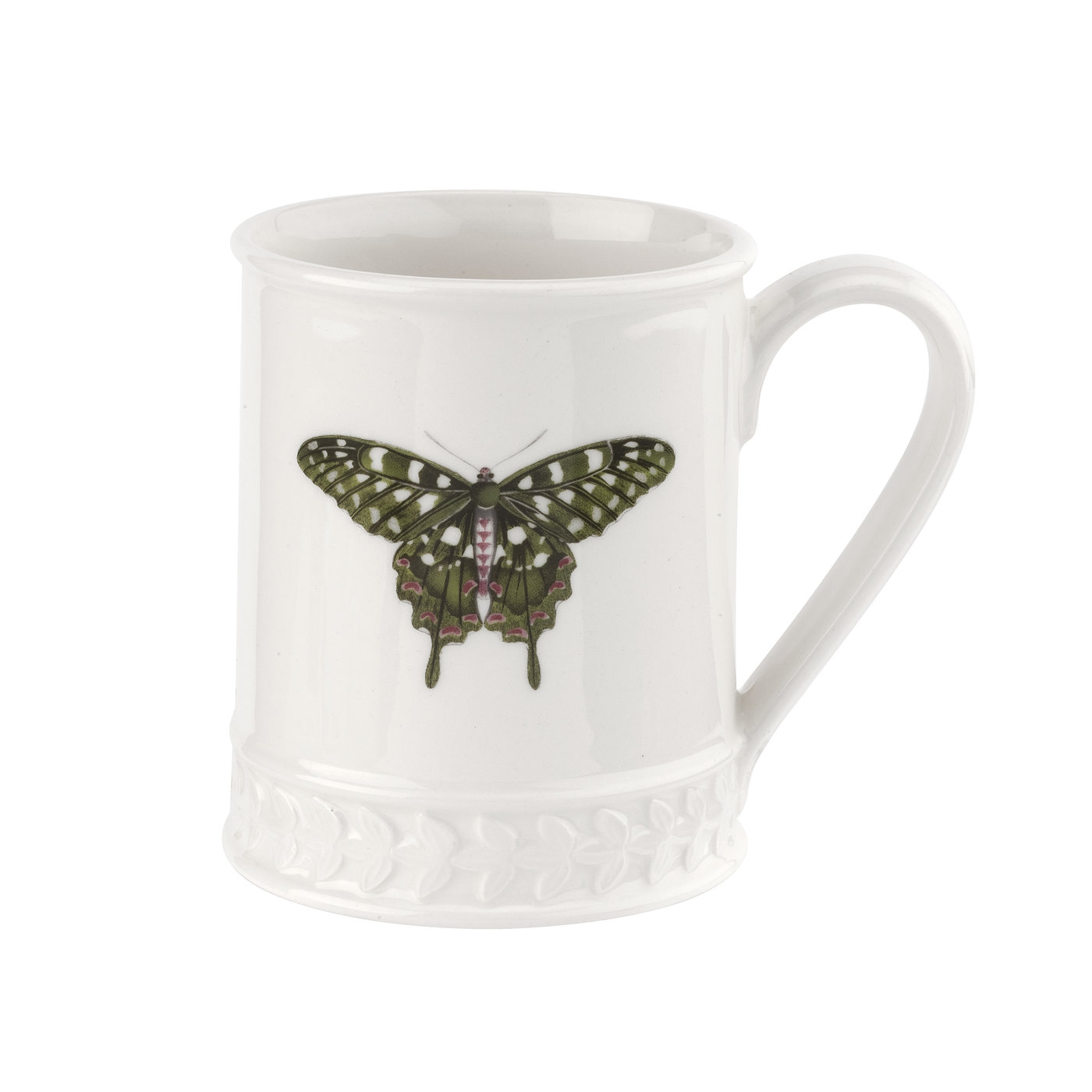 포트메리온 '보타닉 가든 하모니' 나비 머그 Portmeirion Botanic Garden Harmony Embossed 12 oz Tankard-Forest Green Butterfly