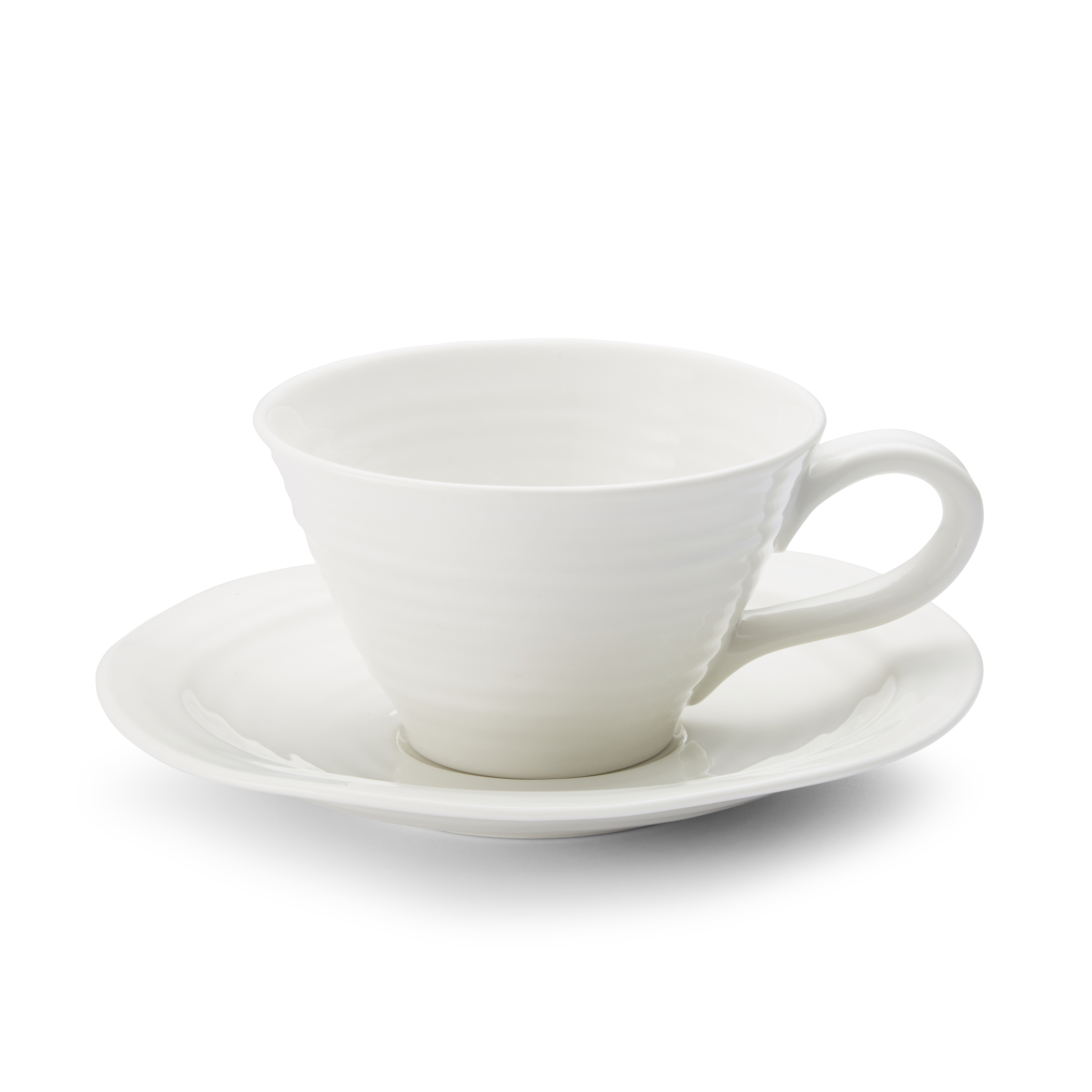 포트메리온 '소피 콘란' 찻잔 컵받침 4개 세트 Portmeirion Sophie Conran  White Set of 4 Teacups and Saucers